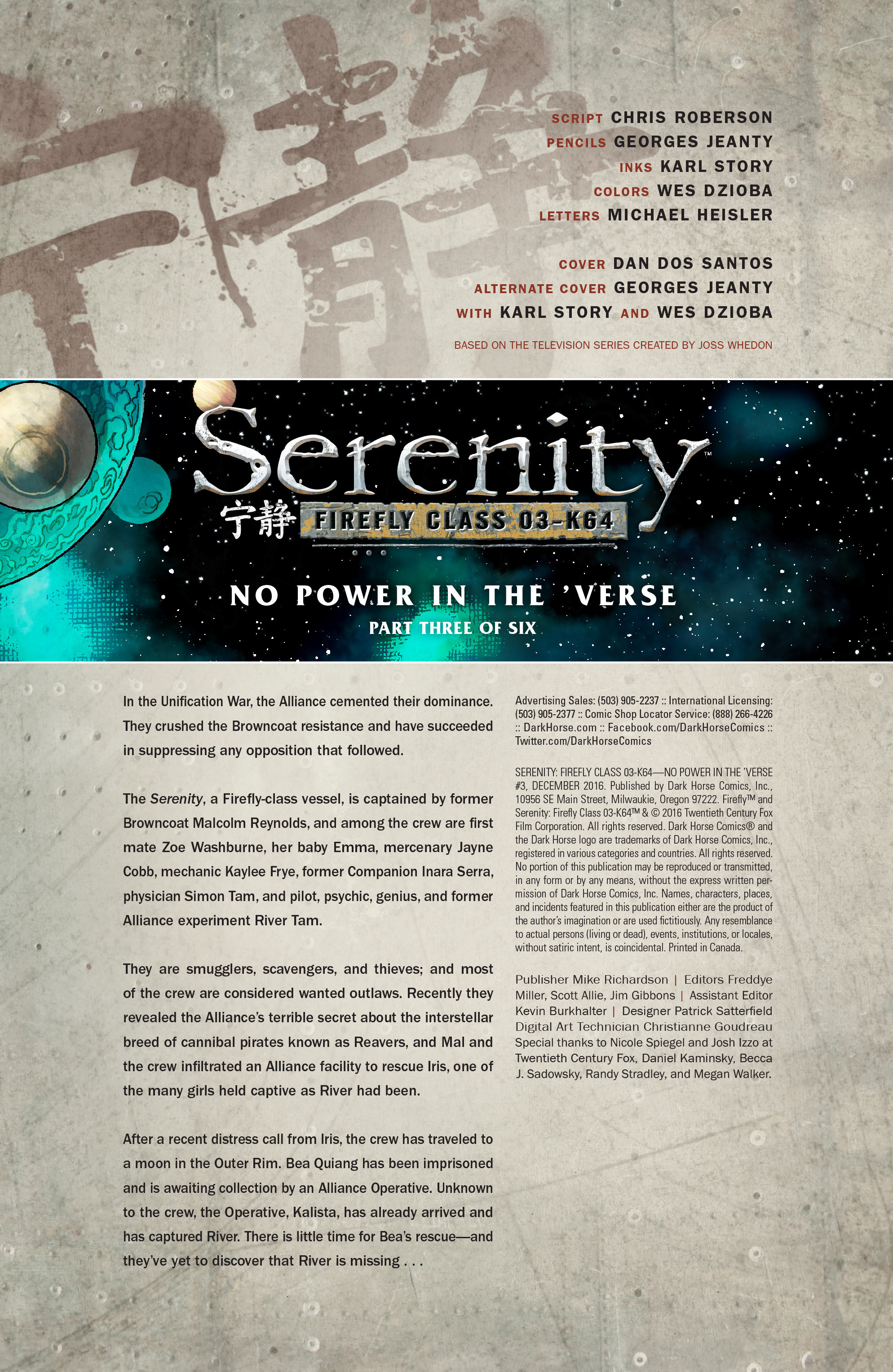 Read online Serenity: Firefly Class 03-K64 – No Power in the 'Verse comic -  Issue #3 - 3