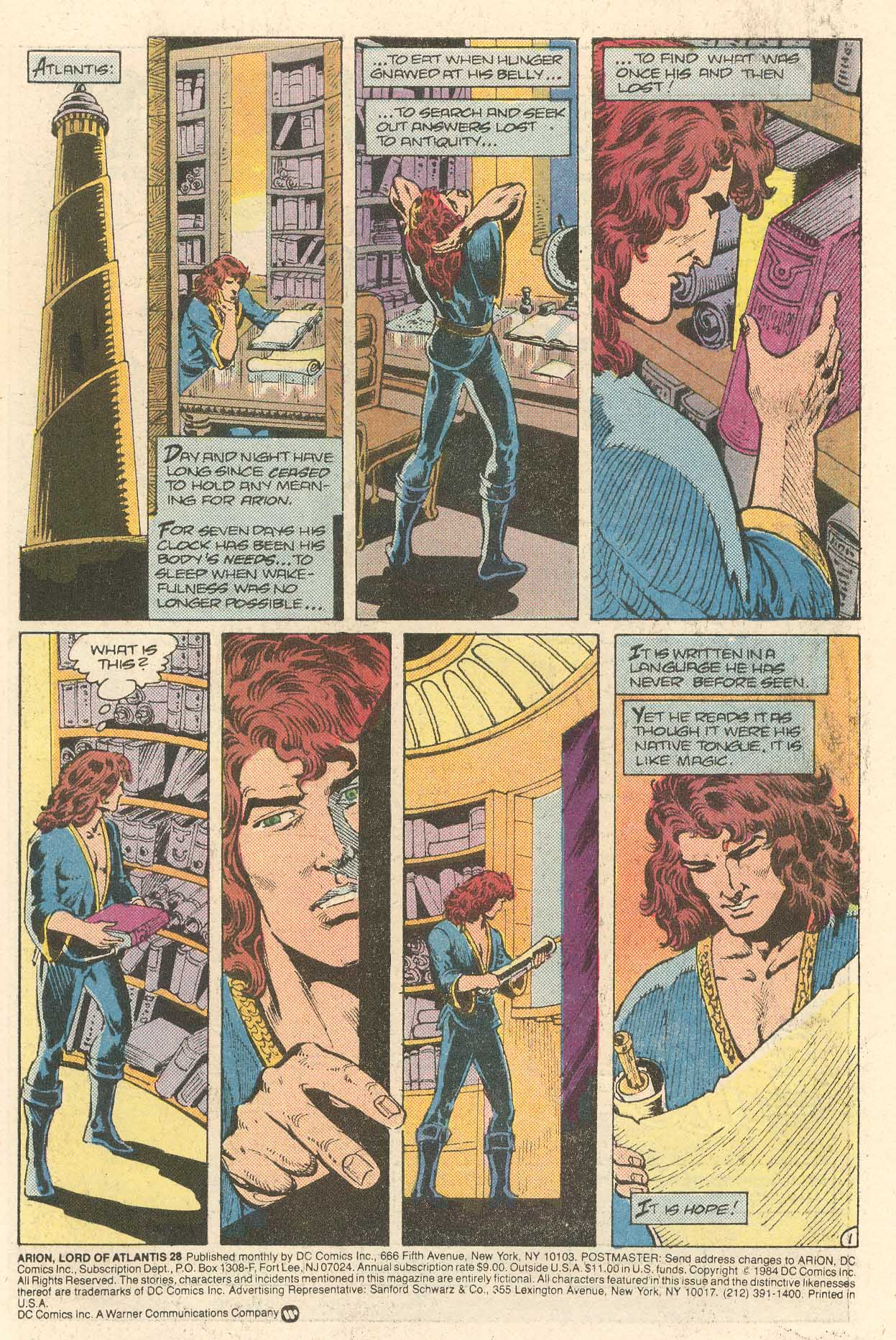 Read online Arion, Lord of Atlantis comic -  Issue #28 - 2