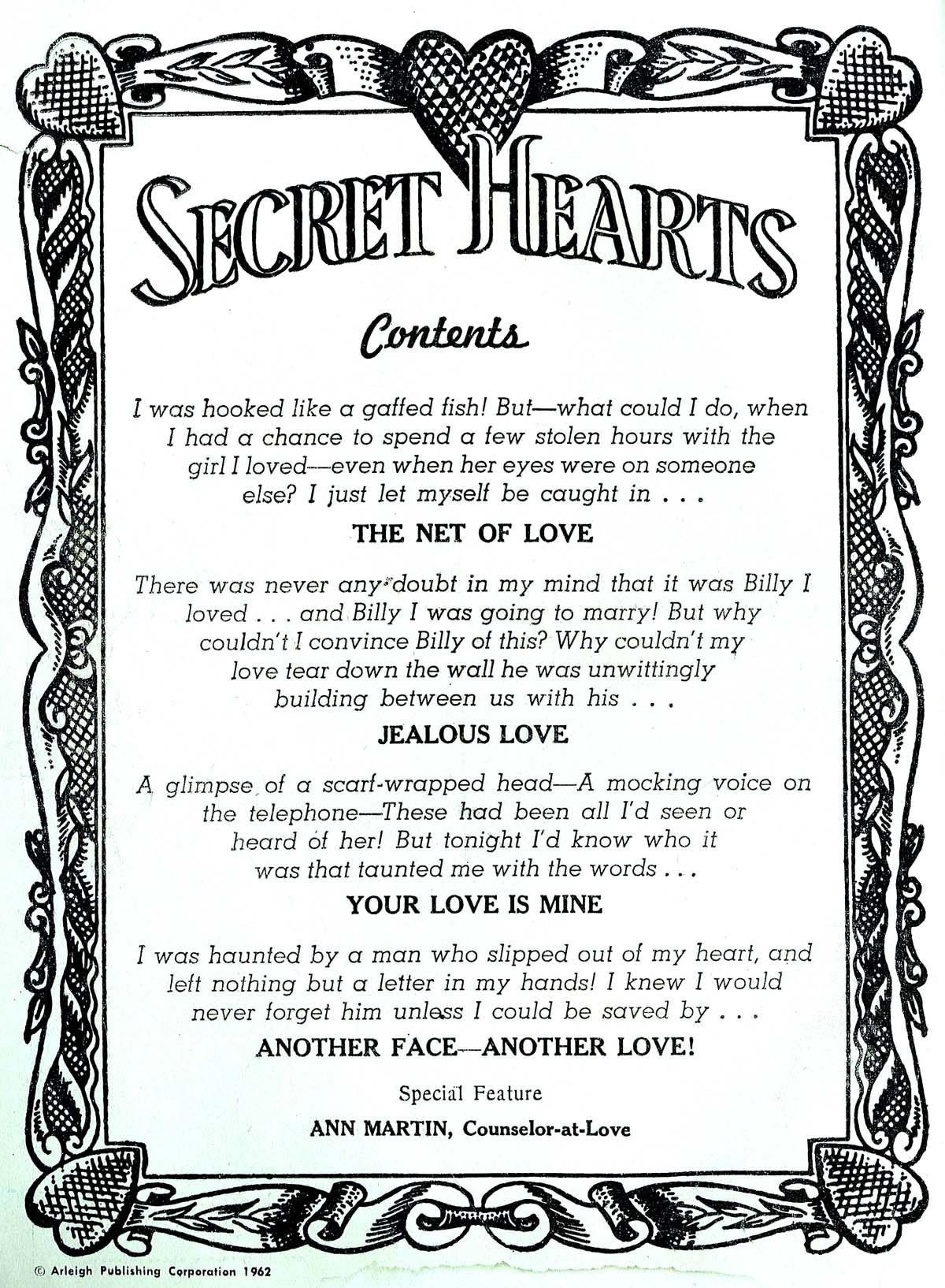 Read online Secret Hearts comic -  Issue #82 - 2