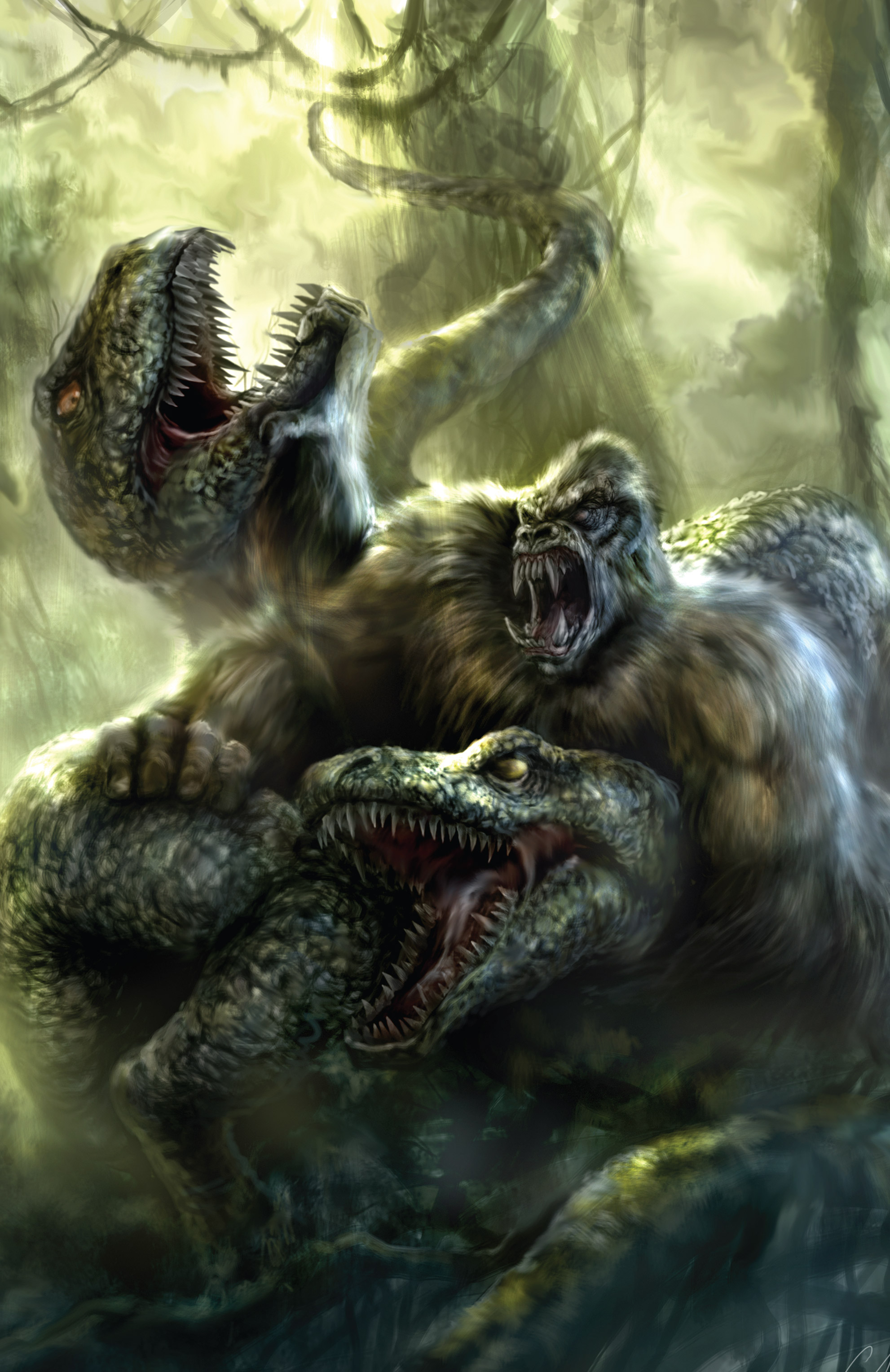 Read online American Mythology Dark: Werewolves vs Dinosaurs comic -  Issue #2 - 28