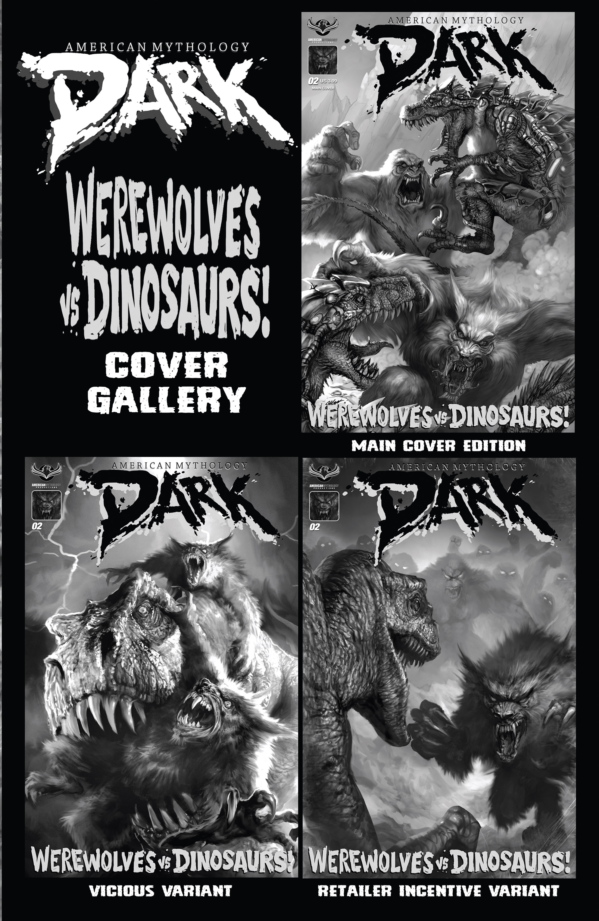 Read online American Mythology Dark: Werewolves vs Dinosaurs comic -  Issue #2 - 3