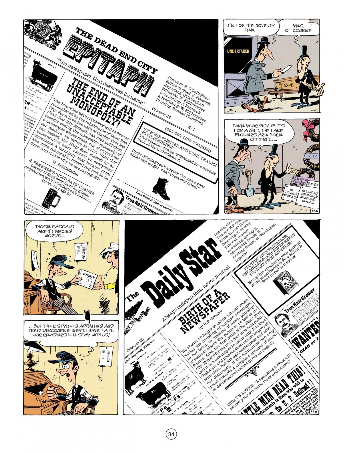 Read online A Lucky Luke Adventure comic -  Issue #41 - 34