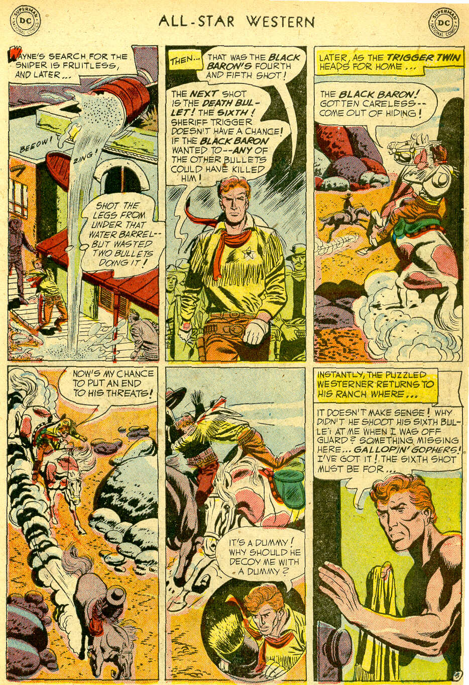 Read online All-Star Western (1951) comic -  Issue #68 - 7