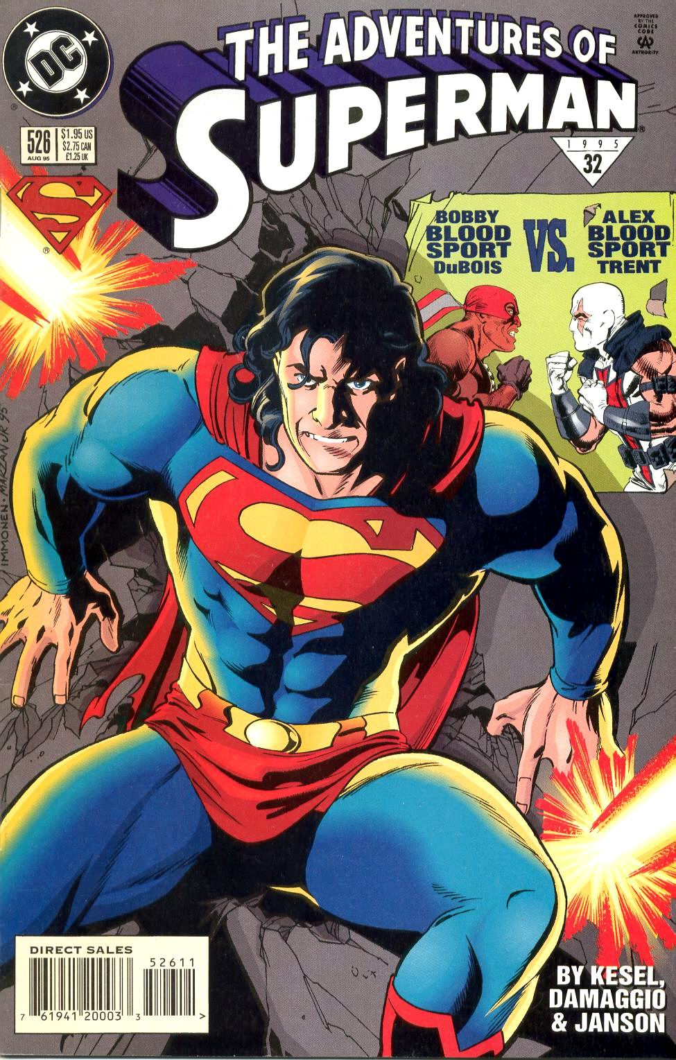 Read online Adventures of Superman (1987) comic -  Issue #526 - 1