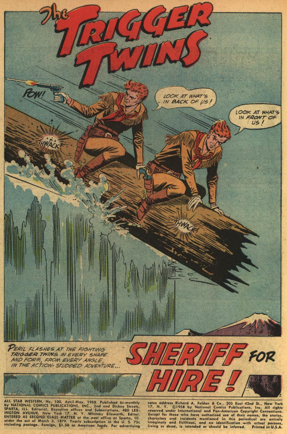 Read online All-Star Western (1951) comic -  Issue #100 - 3