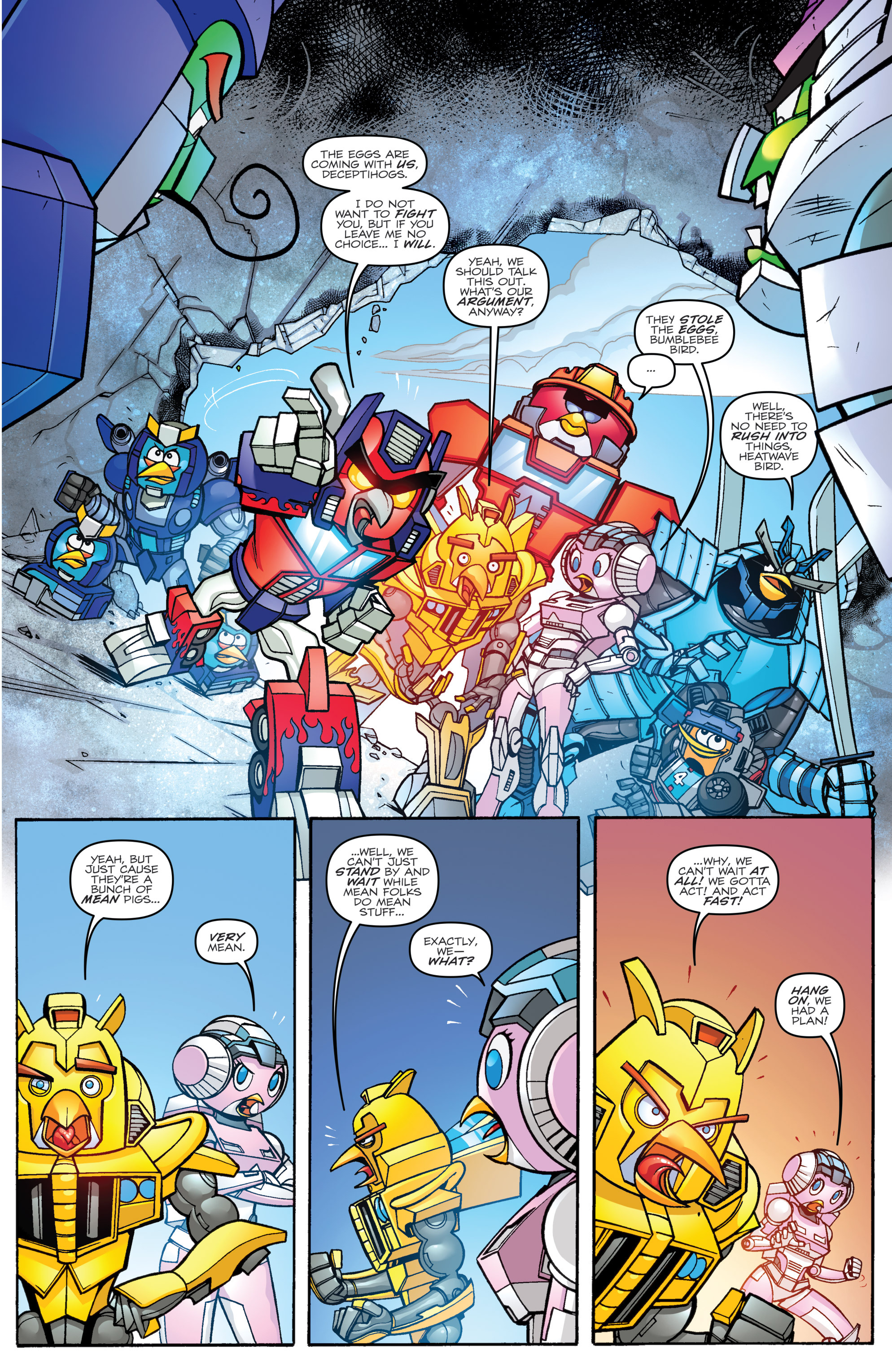 Read online Angry Birds Transformers comic -  Issue #2 - 17