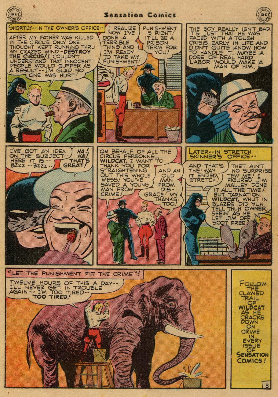Read online Sensation (Mystery) Comics comic -  Issue #61 - 48