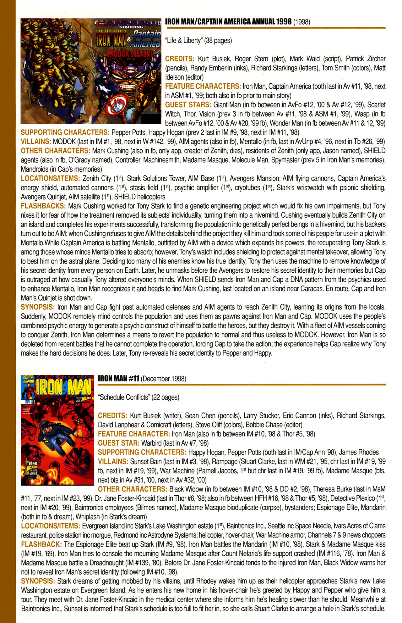 Read online Official Index to the Marvel Universe comic -  Issue #10 - 32