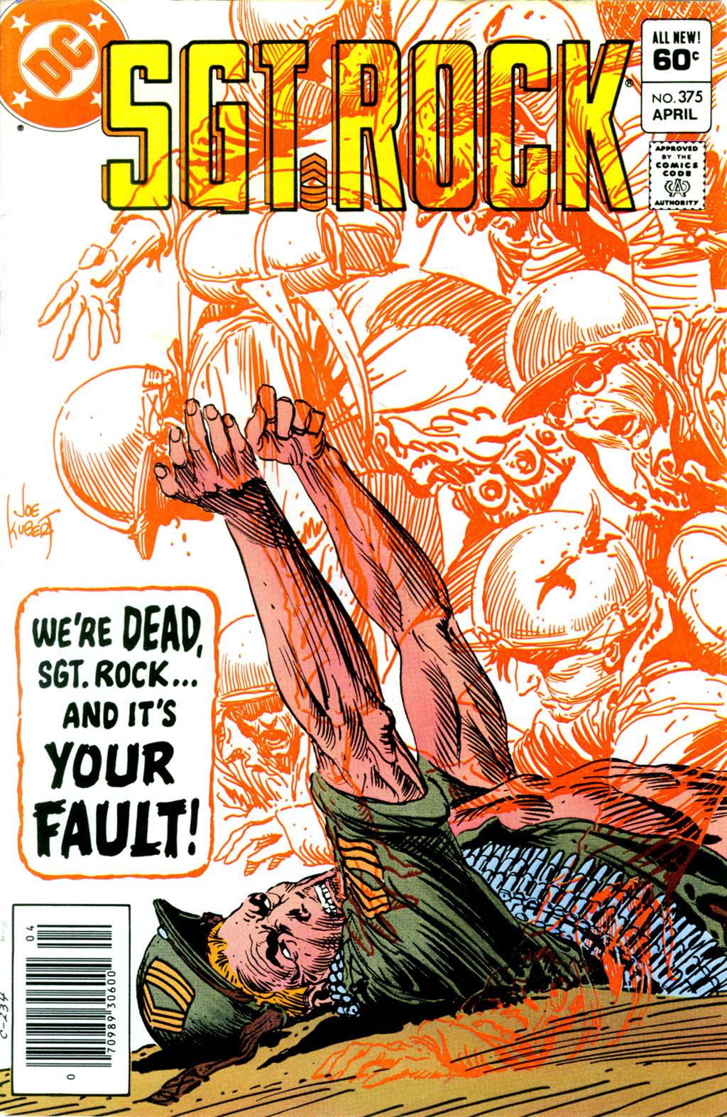 Read online Sgt. Rock comic -  Issue #375 - 1