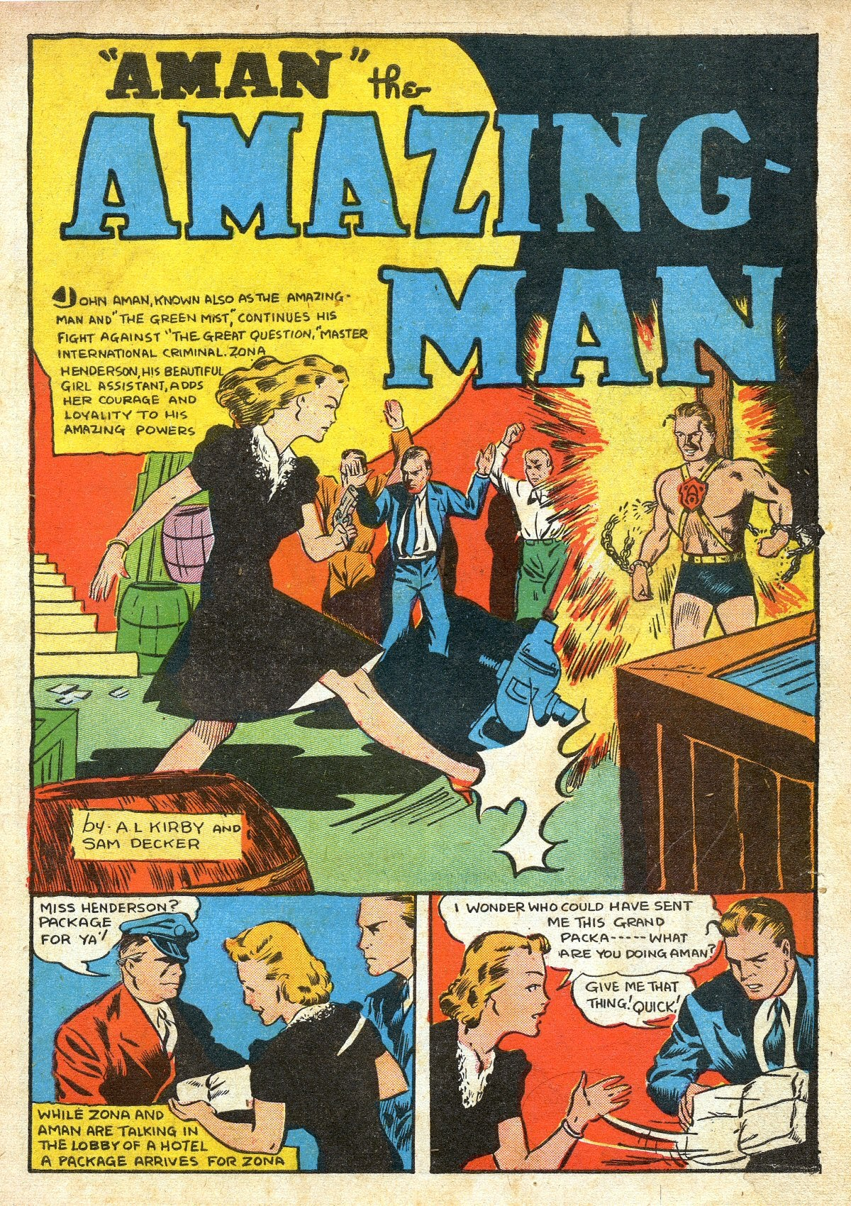 Read online Amazing Man Comics comic -  Issue #16 - 3