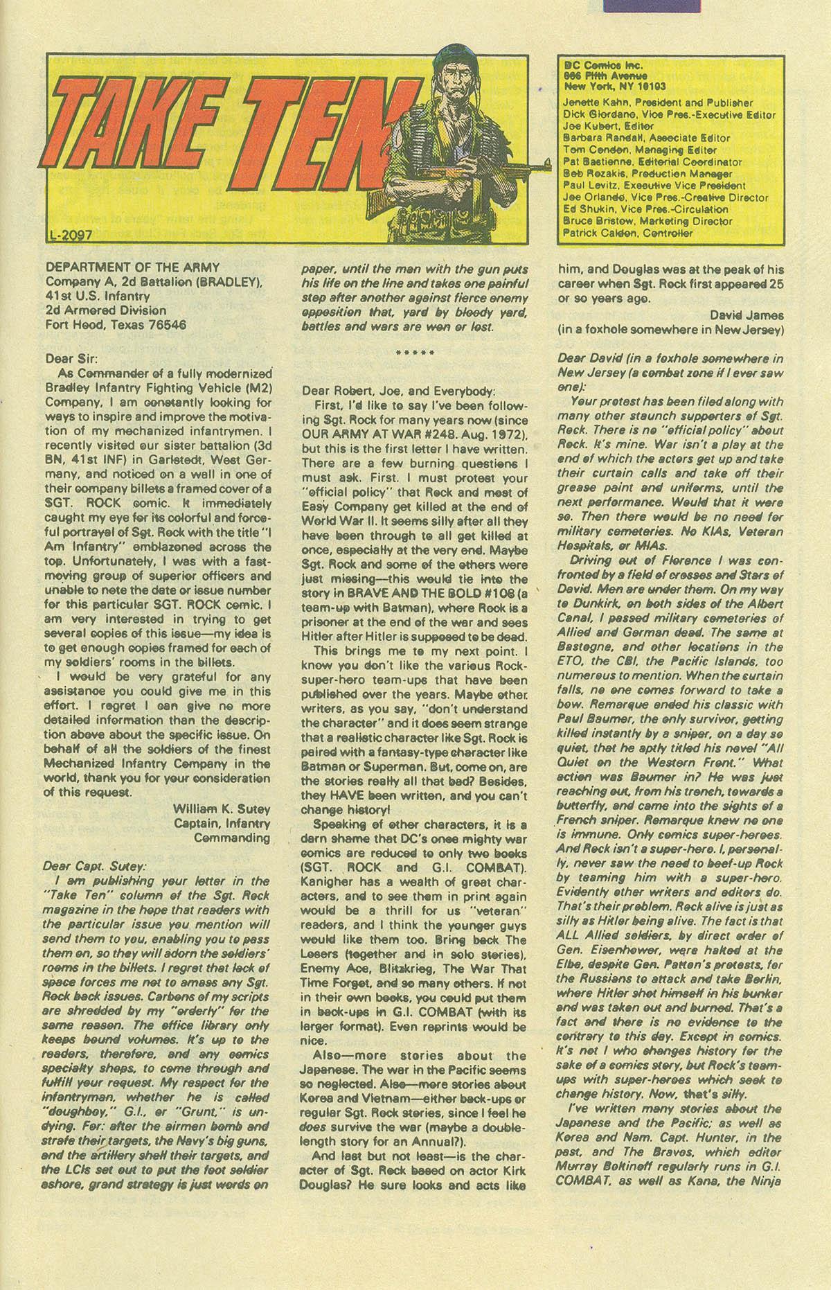 Read online Sgt. Rock comic -  Issue #406 - 32