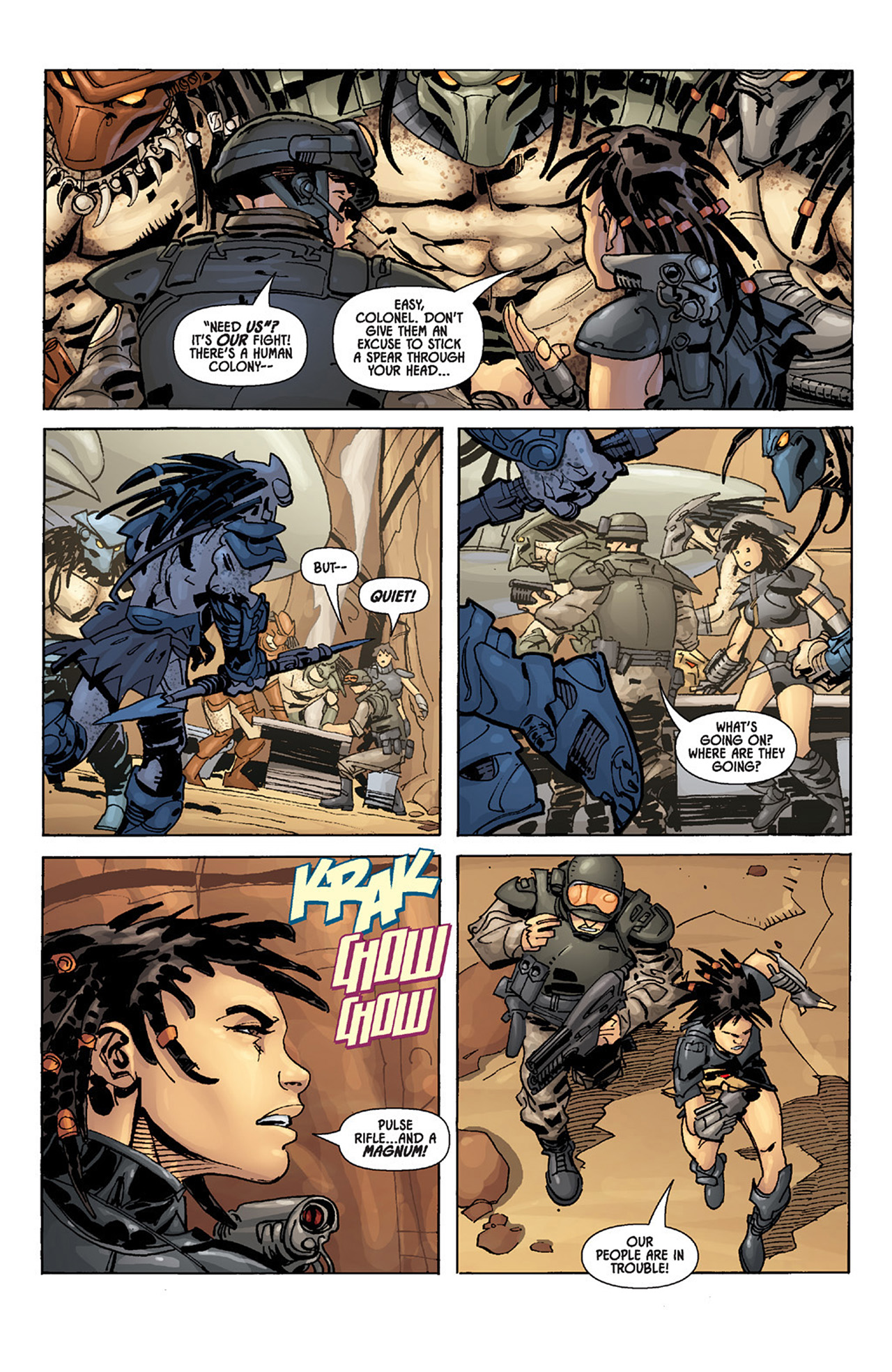 Read online Aliens vs. Predator: Three World War comic -  Issue #3 - 13