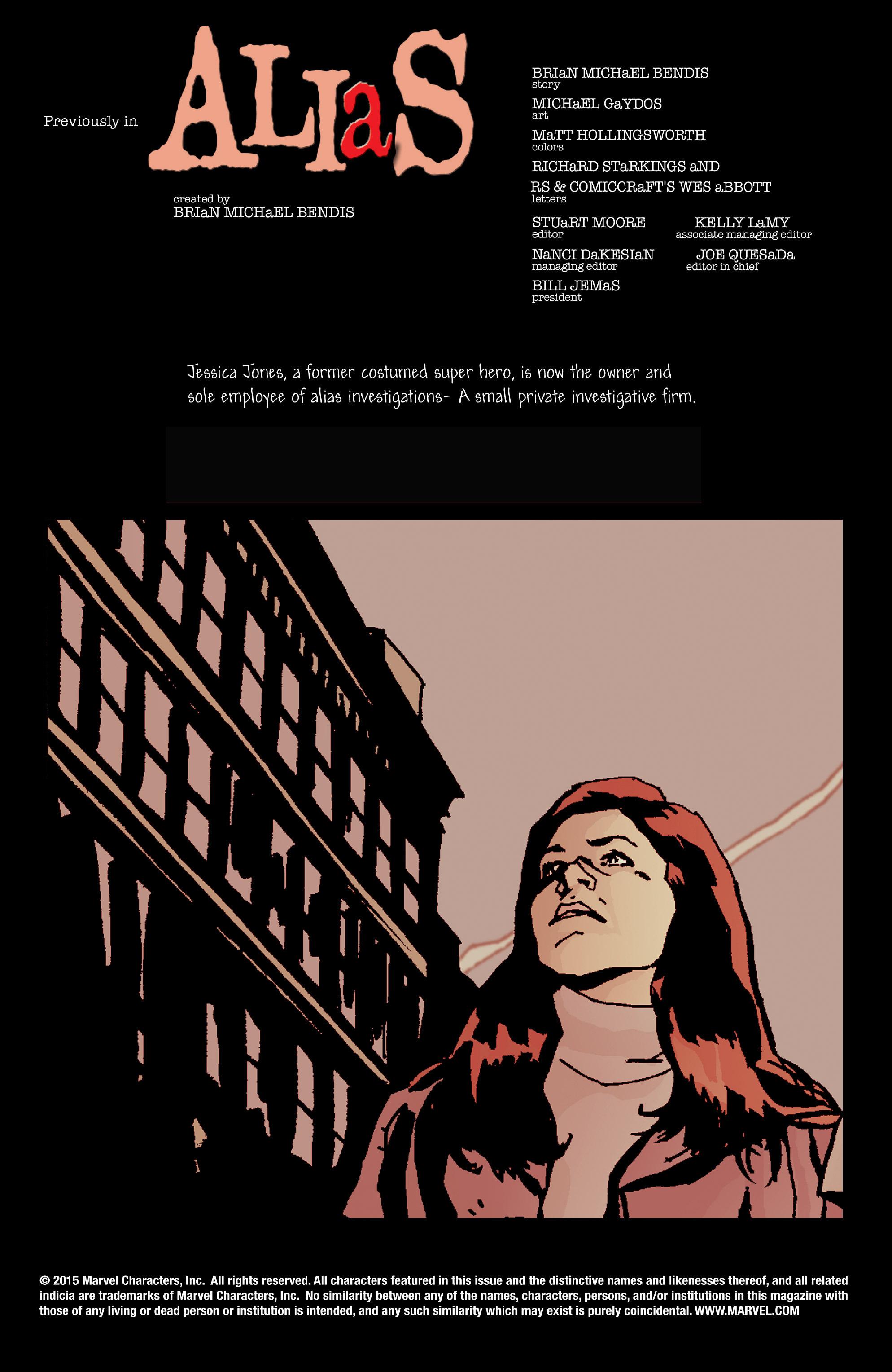 Read online Alias comic -  Issue #8 - 2