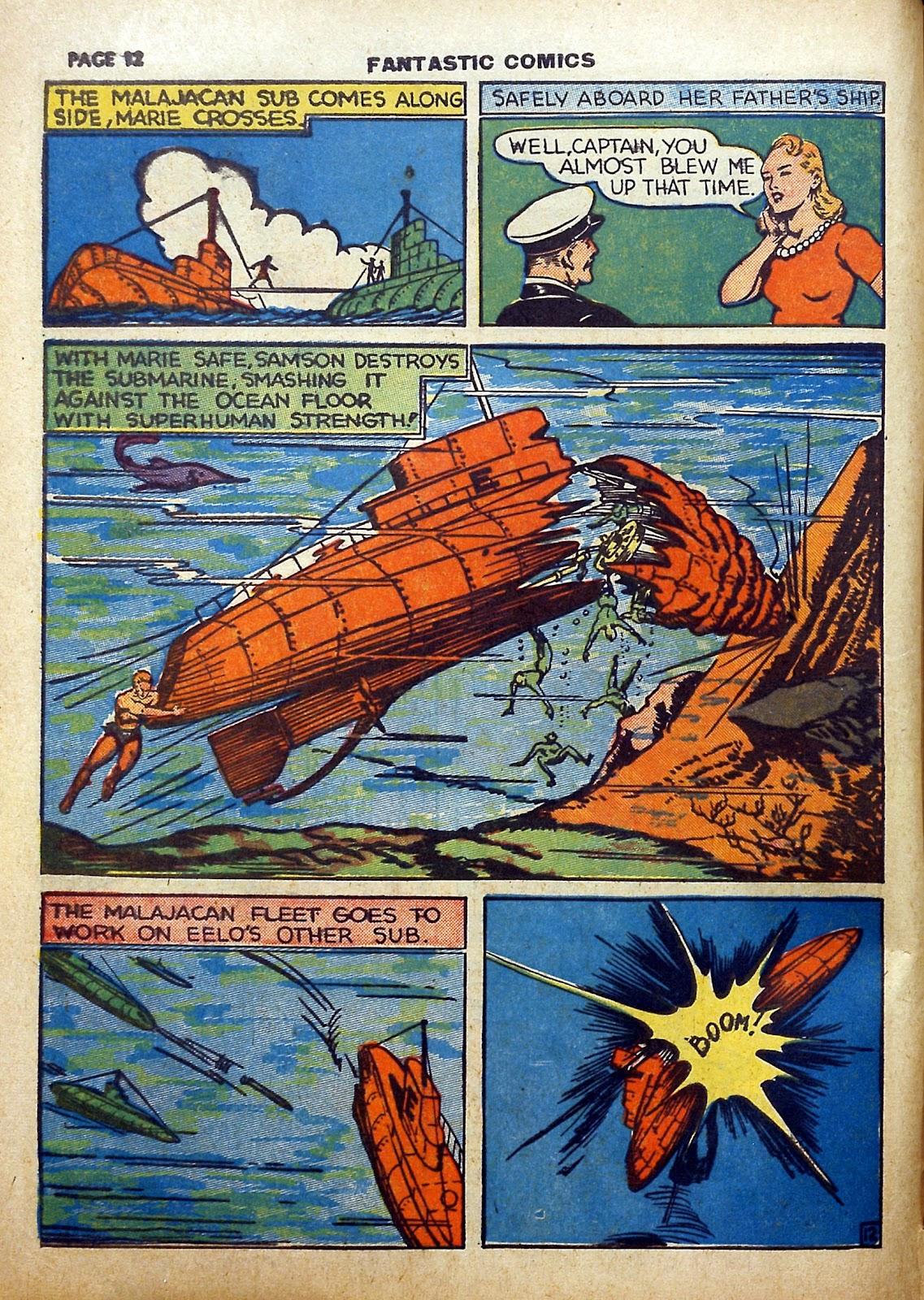 Read online Fantastic Comics comic -  Issue #5 - 13