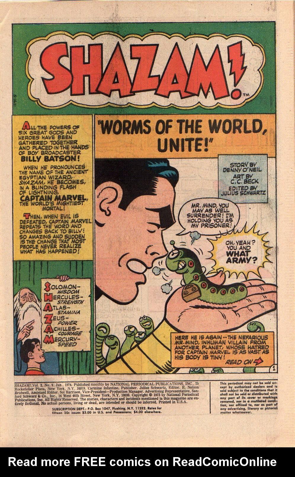 Read online Shazam! (1973) comic -  Issue #9 - 3