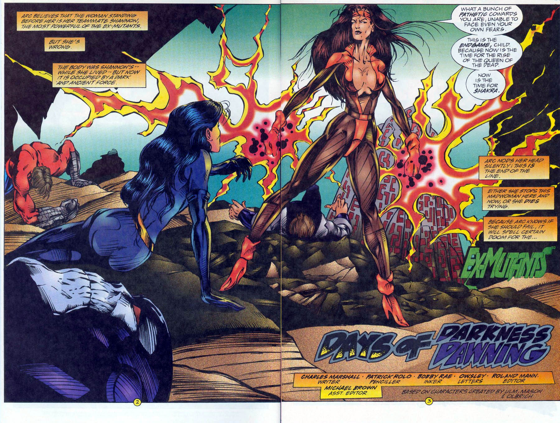 Read online Ex-Mutants comic -  Issue #16 - 3