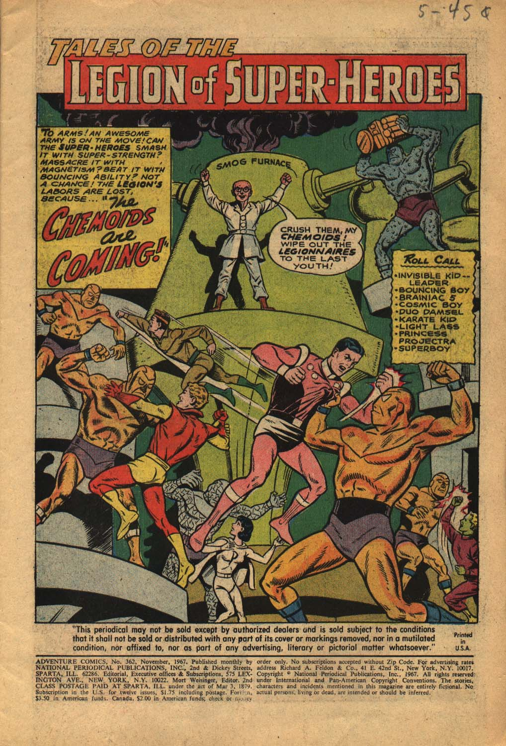 Read online Adventure Comics (1938) comic -  Issue #362 - 3
