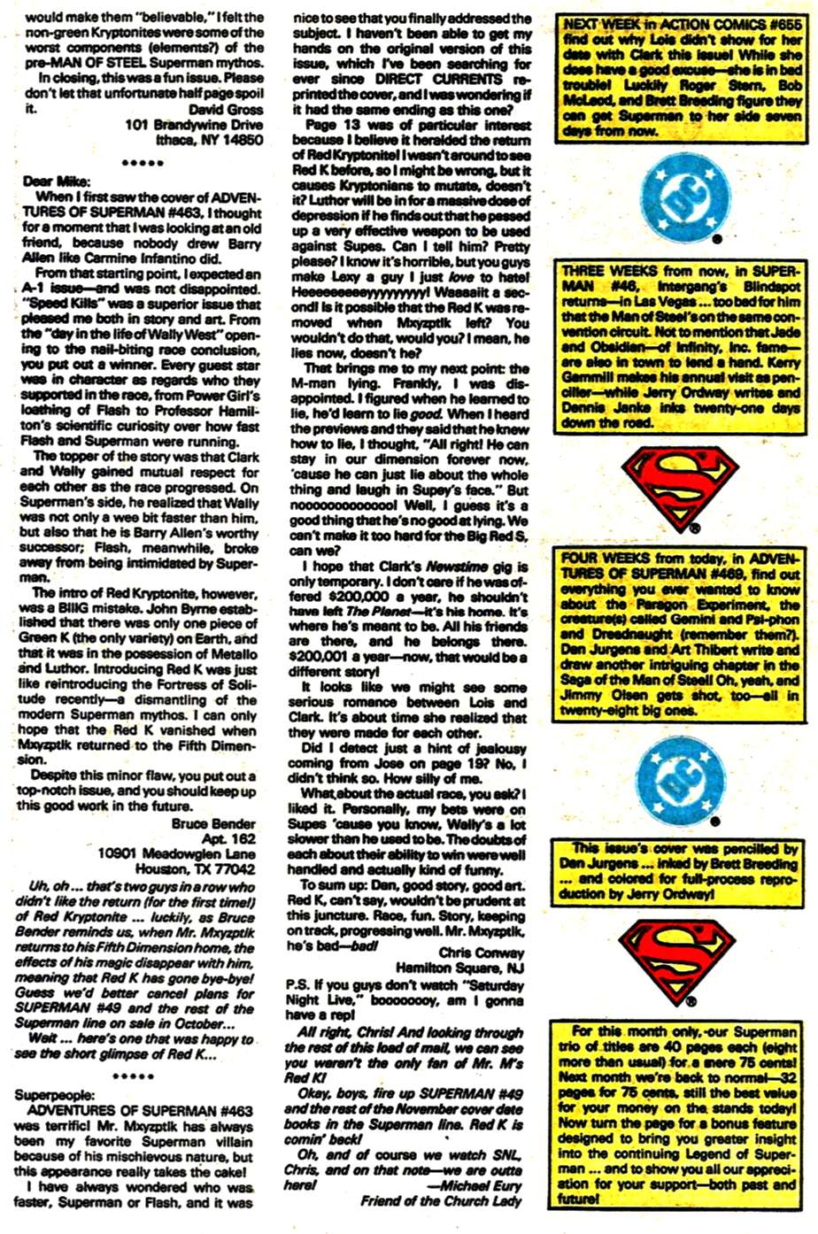 Read online Adventures of Superman (1987) comic -  Issue #468 - 25