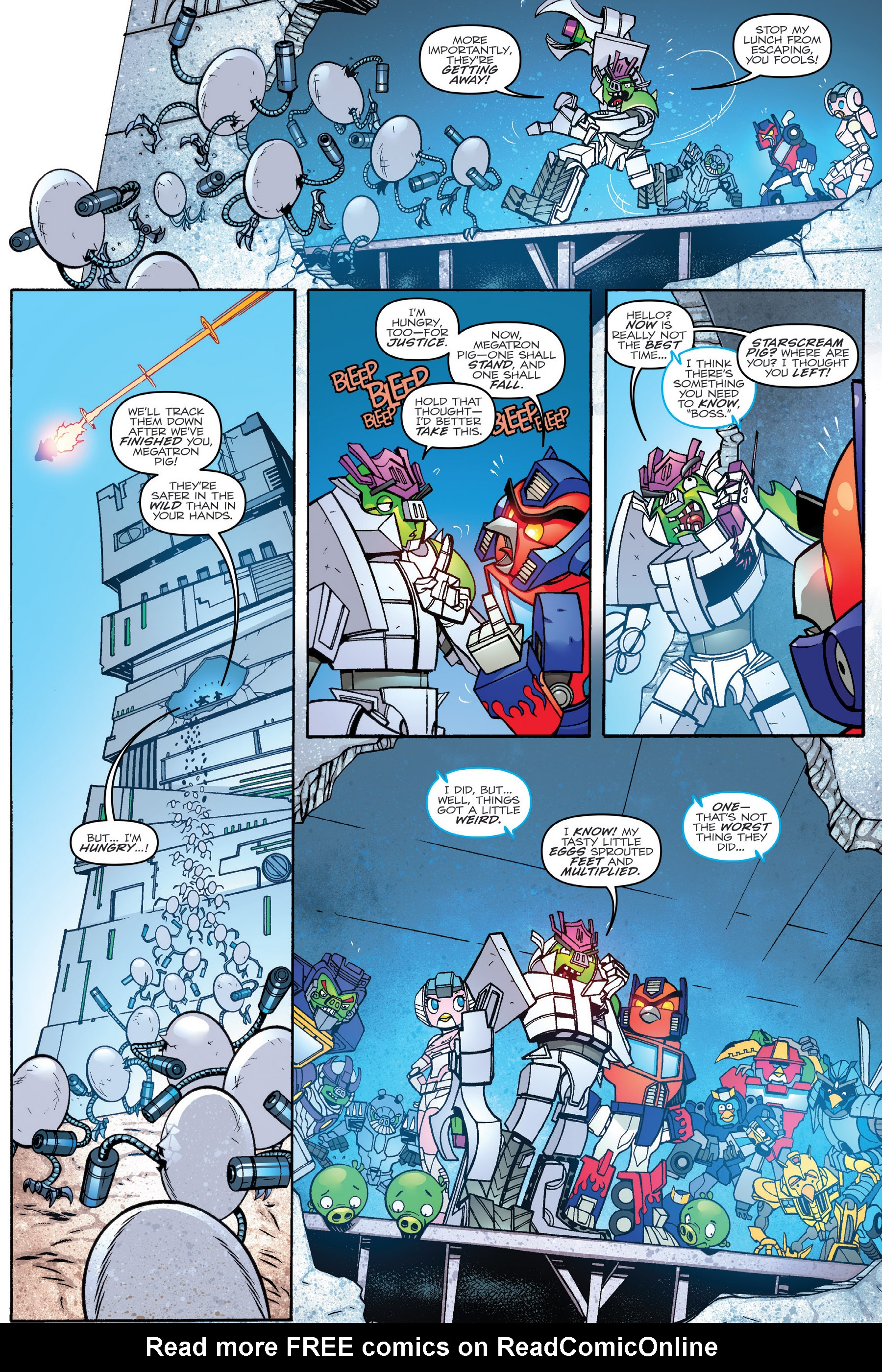 Read online Angry Birds Transformers: Age of Eggstinction comic -  Issue # Full - 46