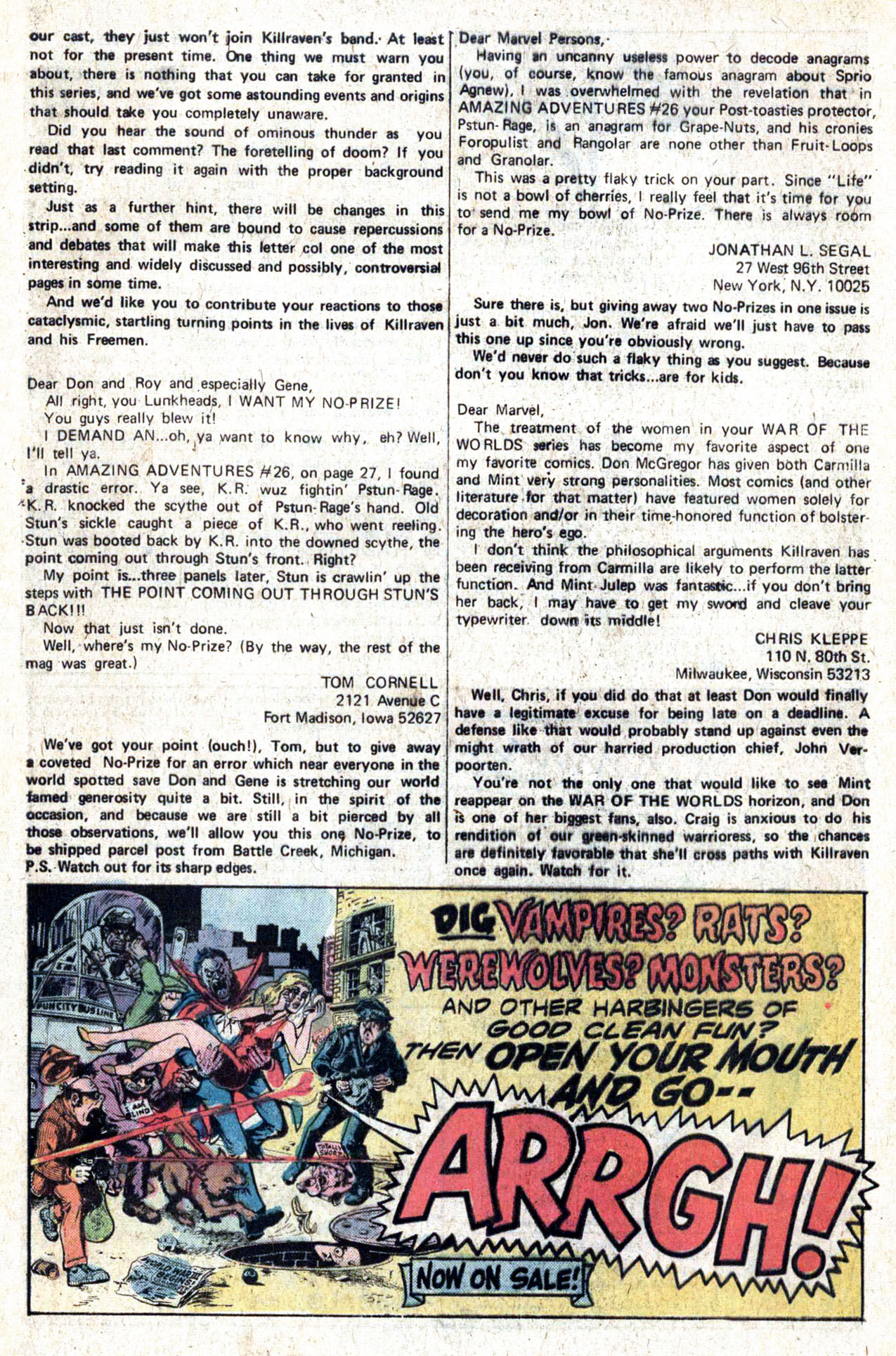 Read online Amazing Adventures (1970) comic -  Issue #28 - 32
