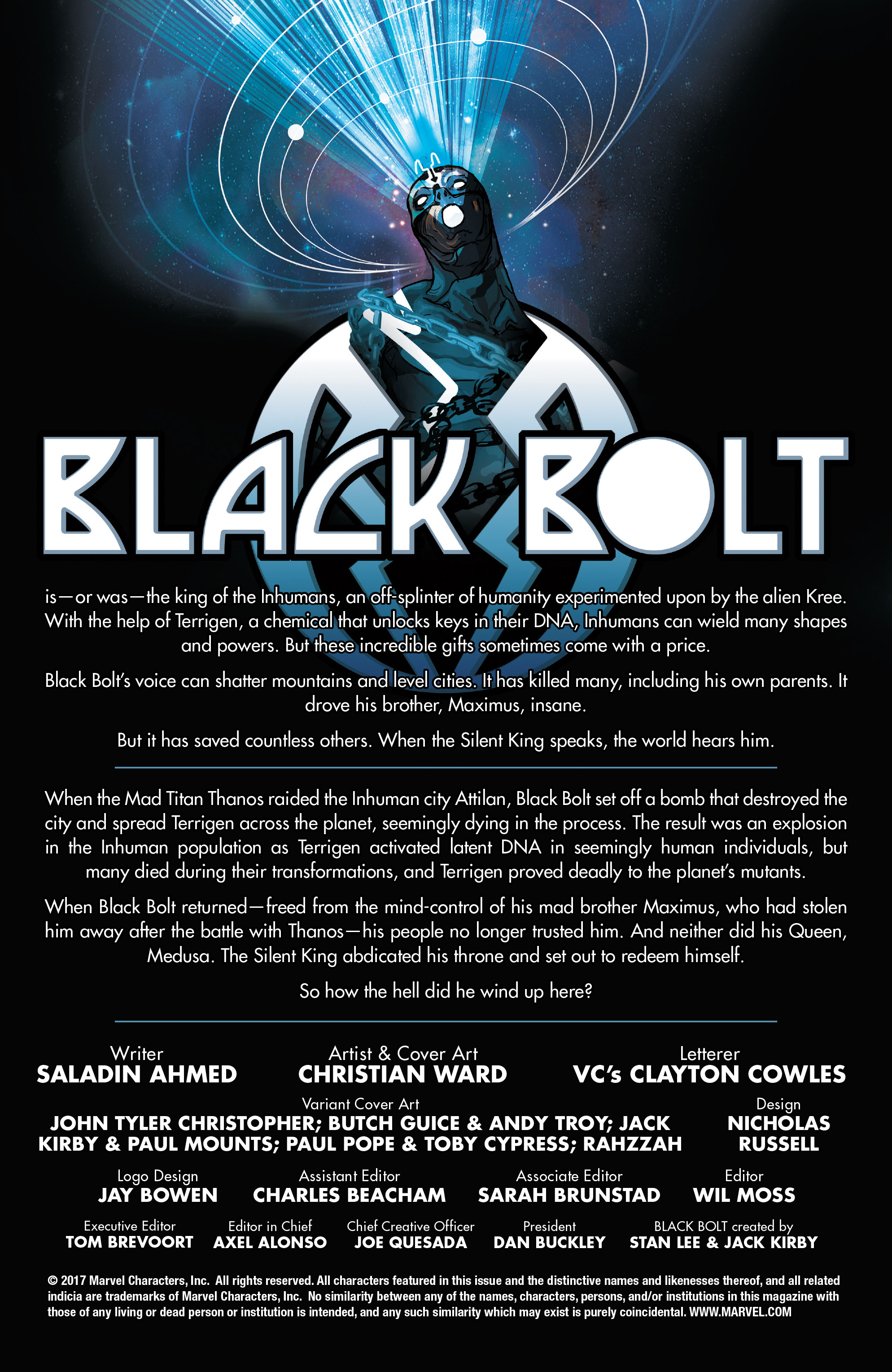 Read online Black Bolt comic -  Issue #1 - 2