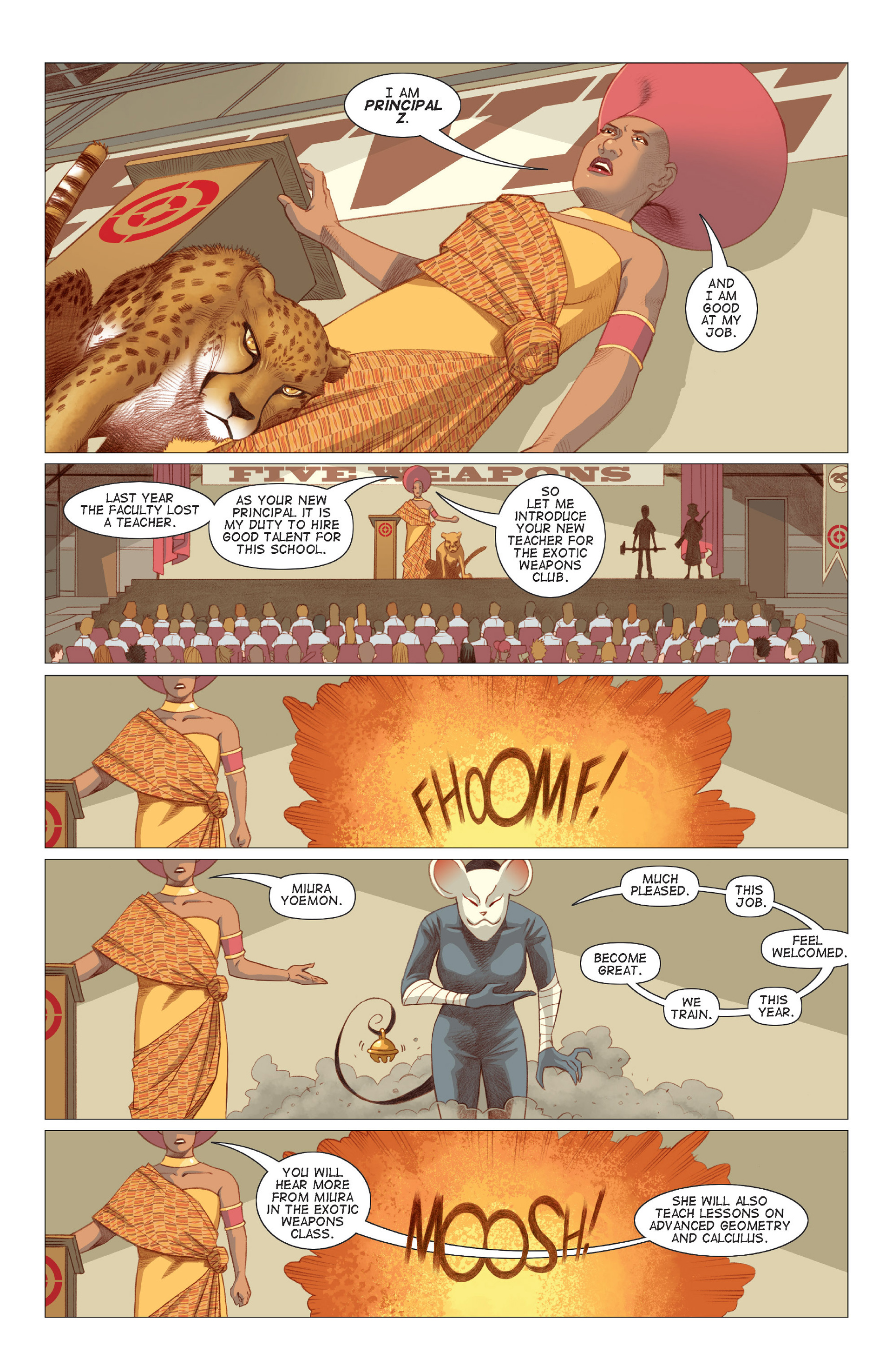 Read online Five Weapons comic -  Issue #6 - 4