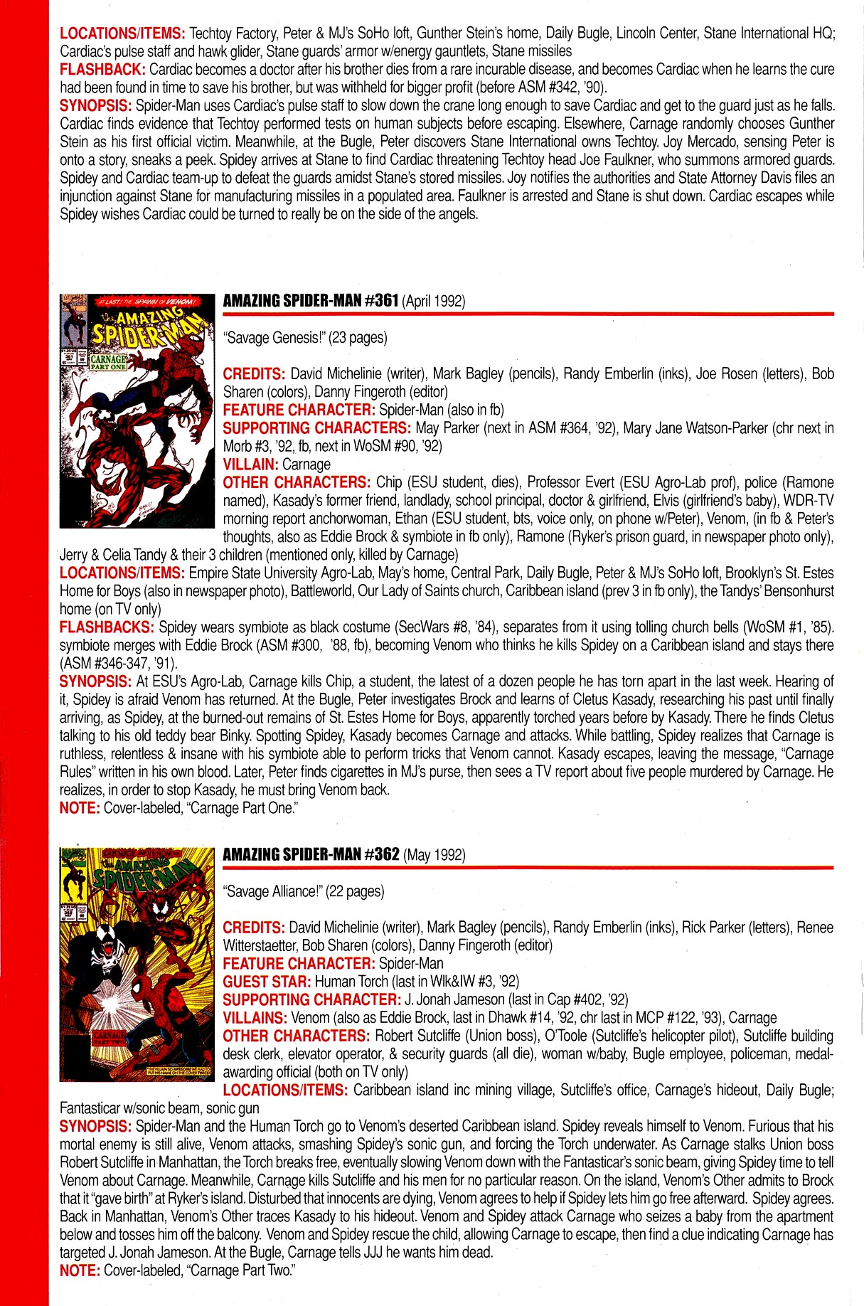 Read online Official Index to the Marvel Universe comic -  Issue #8 - 20