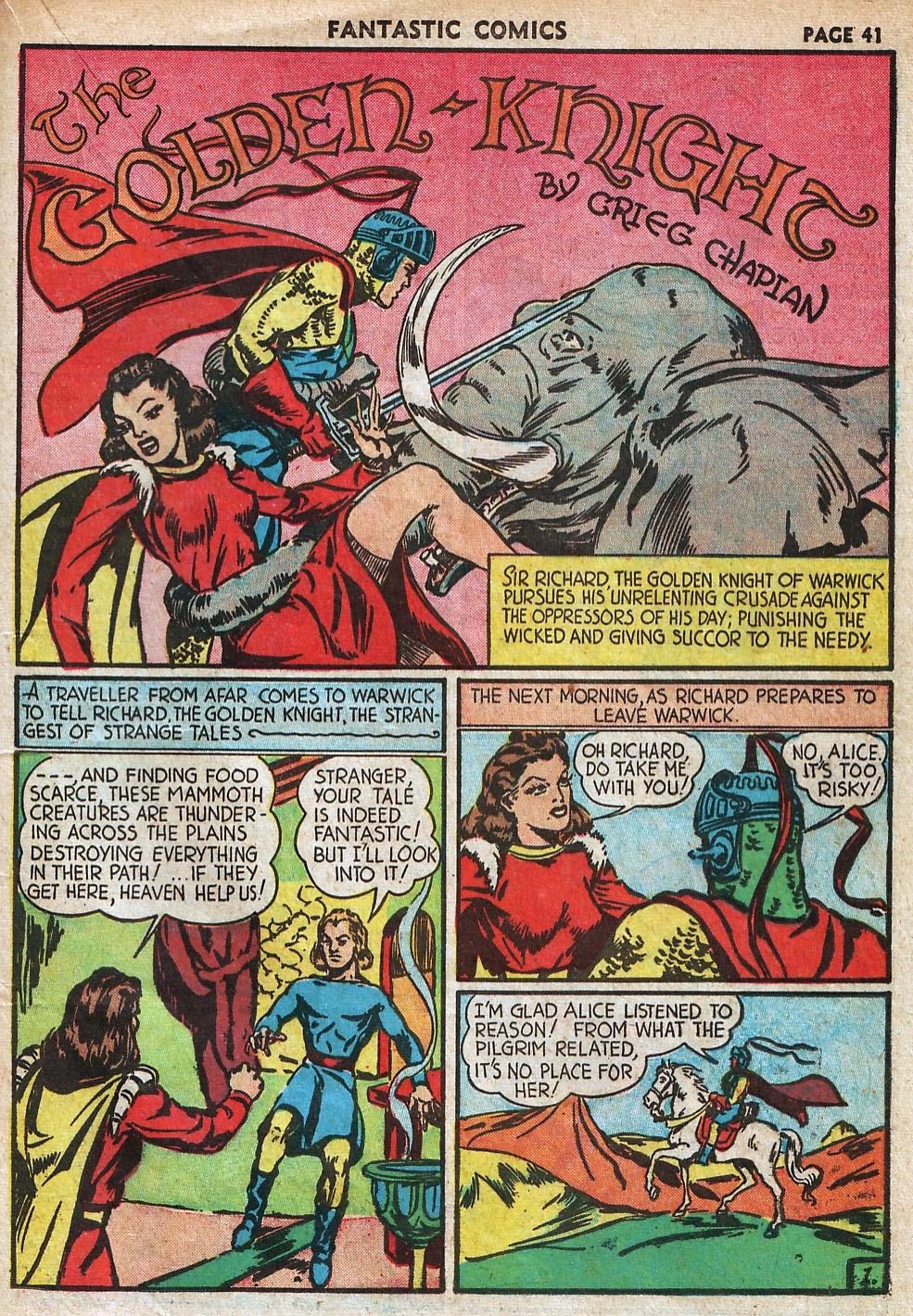 Read online Fantastic Comics comic -  Issue #18 - 43