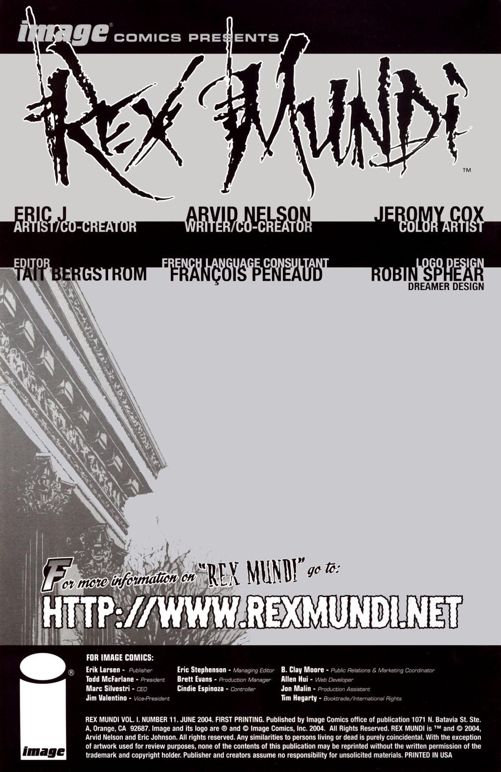 Read online Rex Mundi comic -  Issue #11 - 2