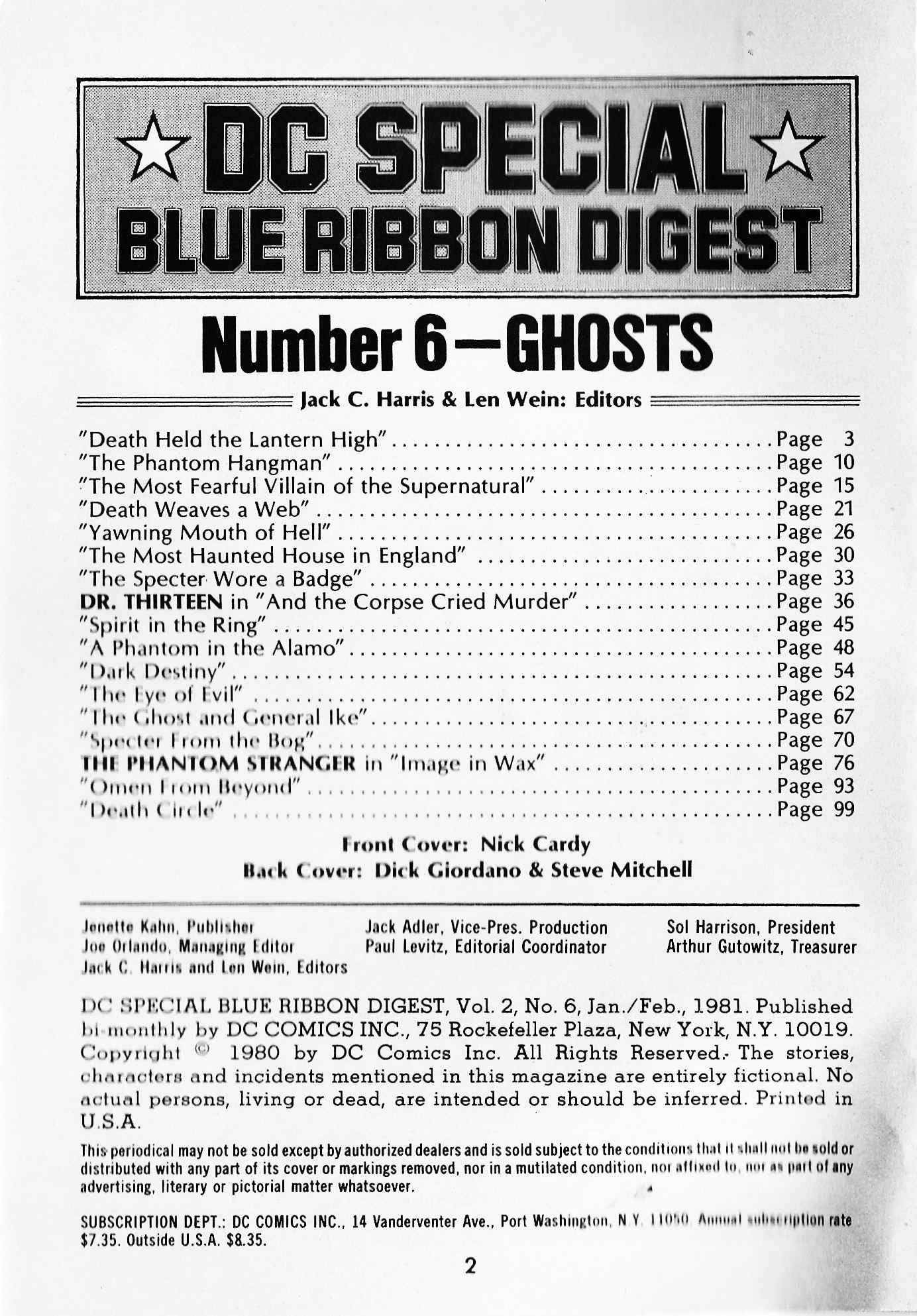 DC Special Blue Ribbon Digest 6 Page 2