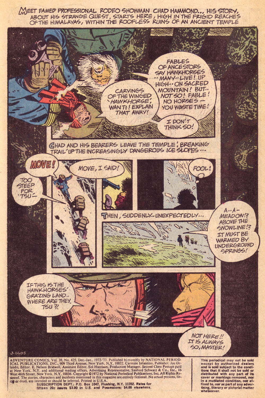 Read online Adventure Comics (1938) comic -  Issue #425 - 2