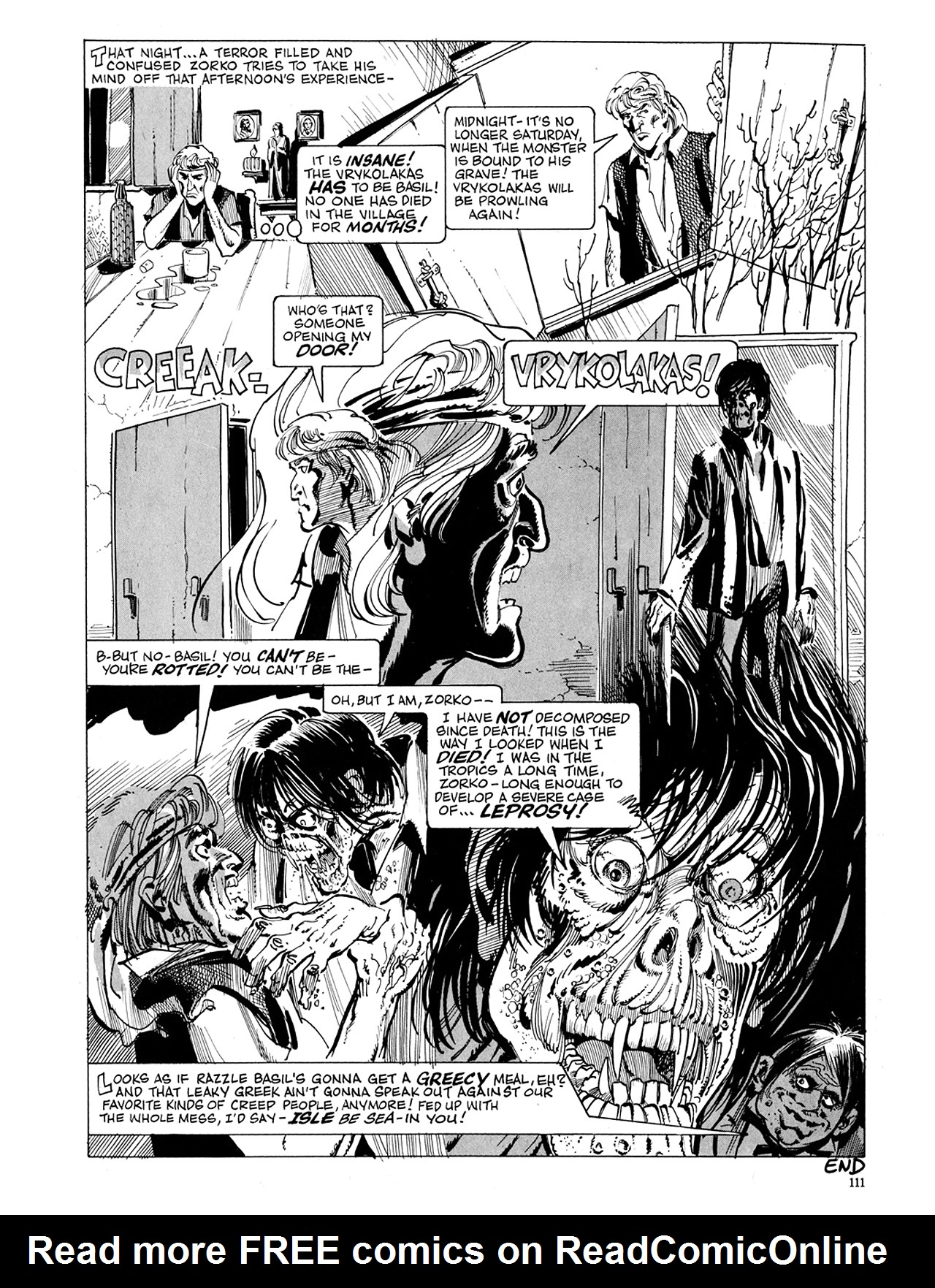 Read online Eerie Archives comic -  Issue # TPB 5 - 112