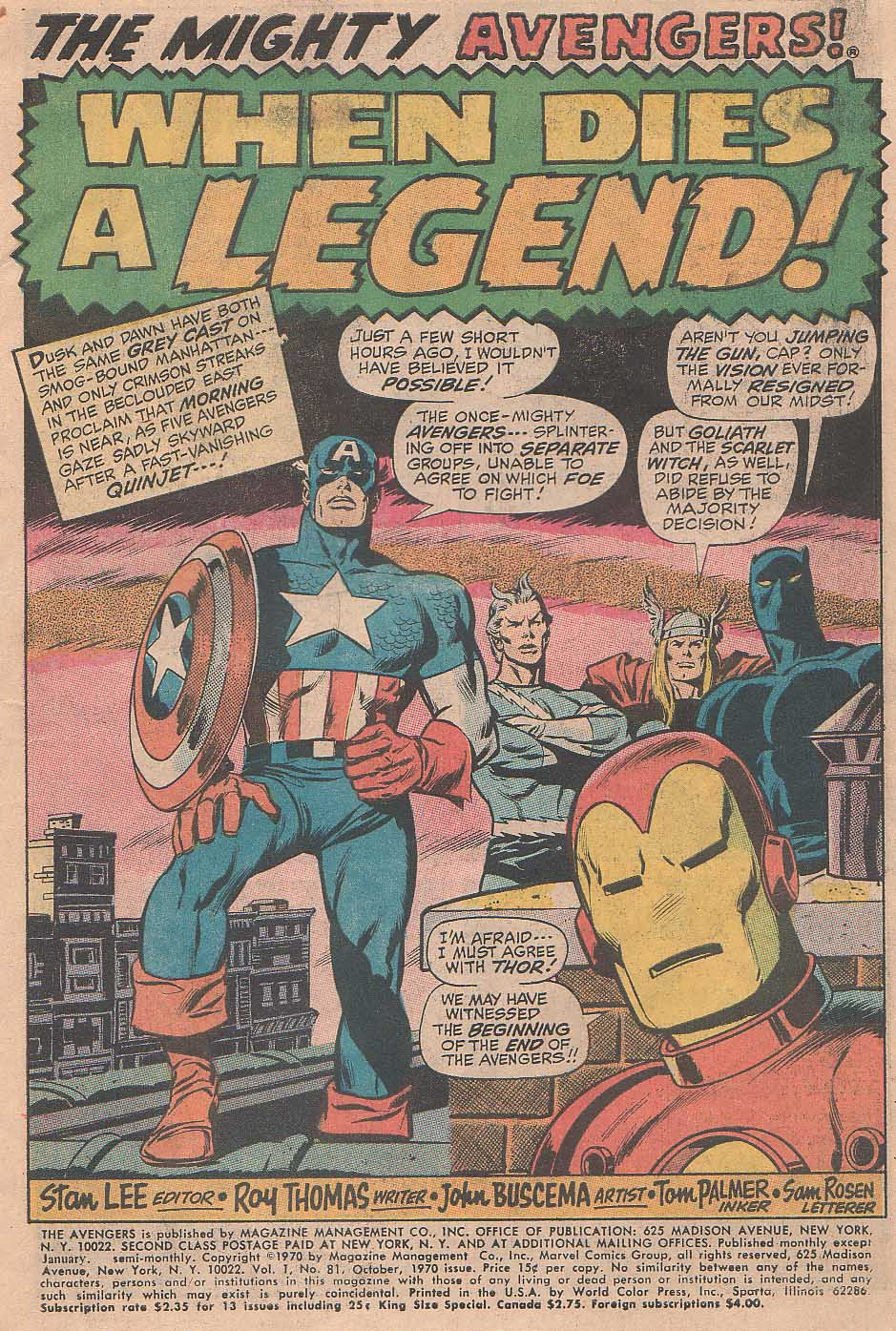 The Avengers (1963) 81 Page 1