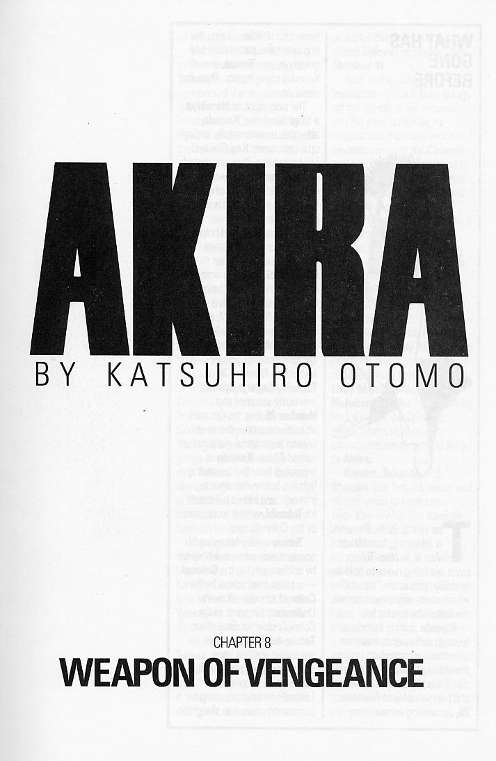 Read online Akira comic -  Issue #8 - 3