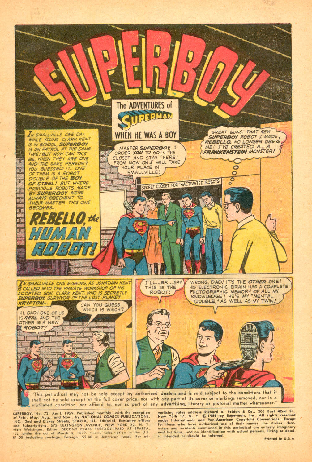 Superboy (1949) issue 72 - Page 2
