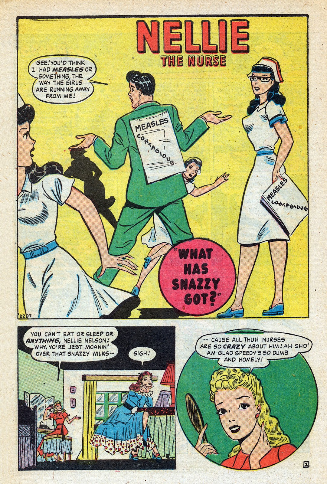Read online Nellie The Nurse (1945) comic -  Issue #14 - 14