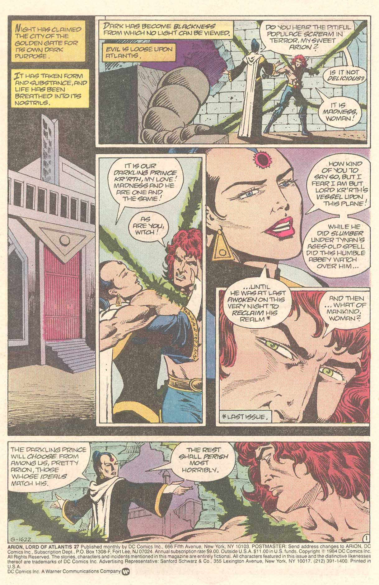Read online Arion, Lord of Atlantis comic -  Issue #27 - 2