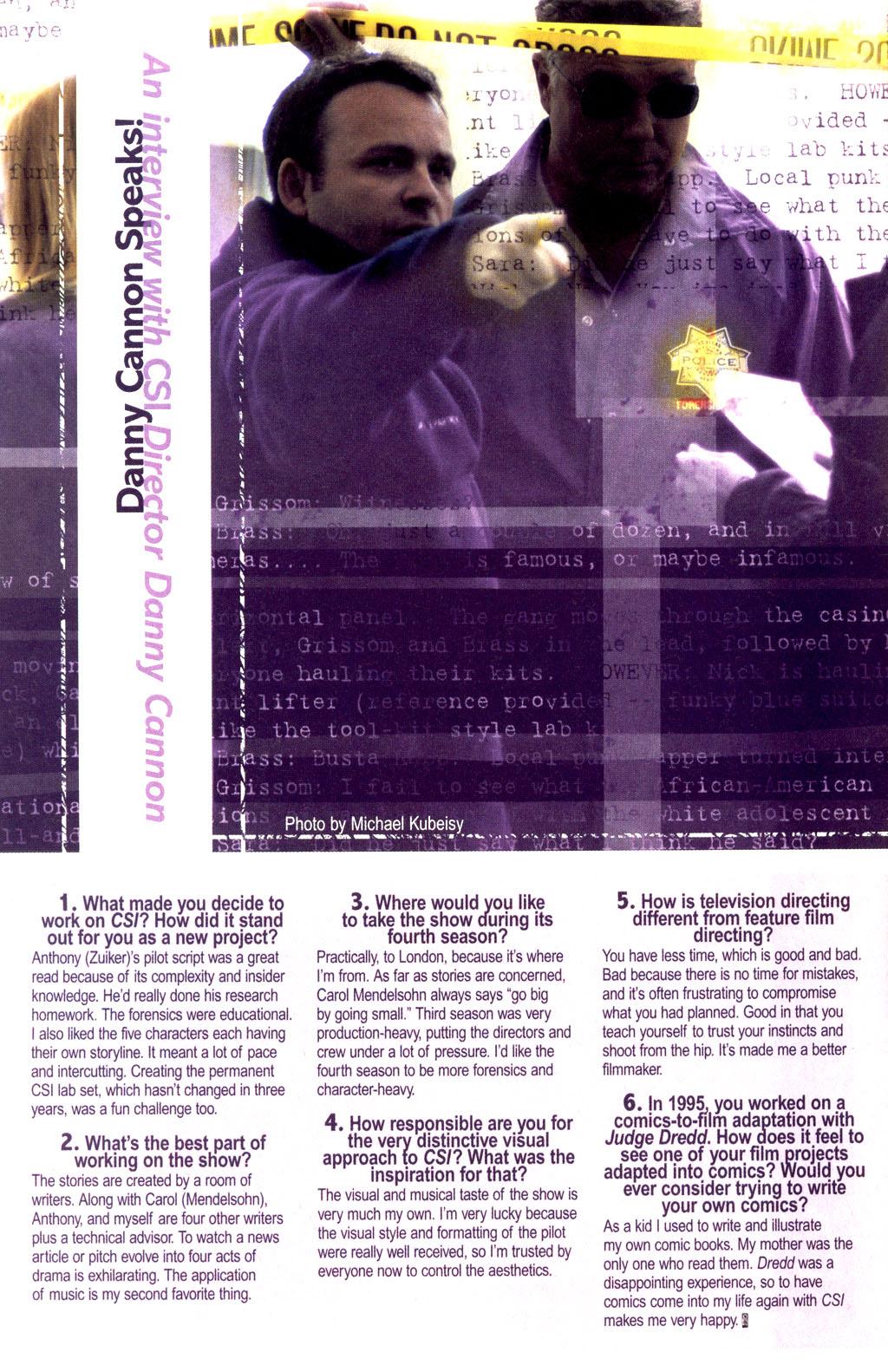 Read online CSI: Crime Scene Investigation: Bad Rap comic -  Issue #2 - 27