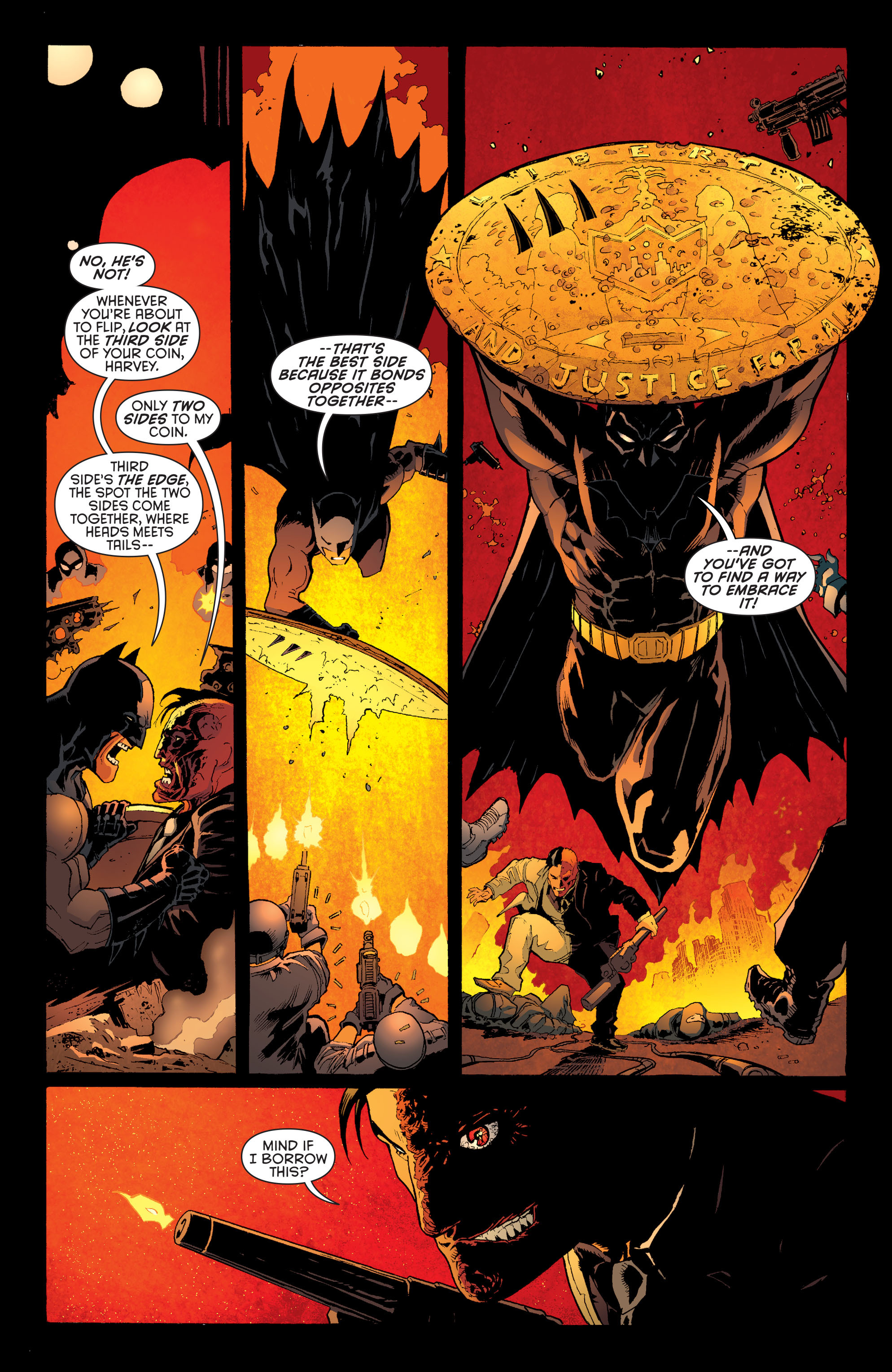 Read online Batman and Robin (2011) comic -  Issue #28 - Batman and Two-Face - 8
