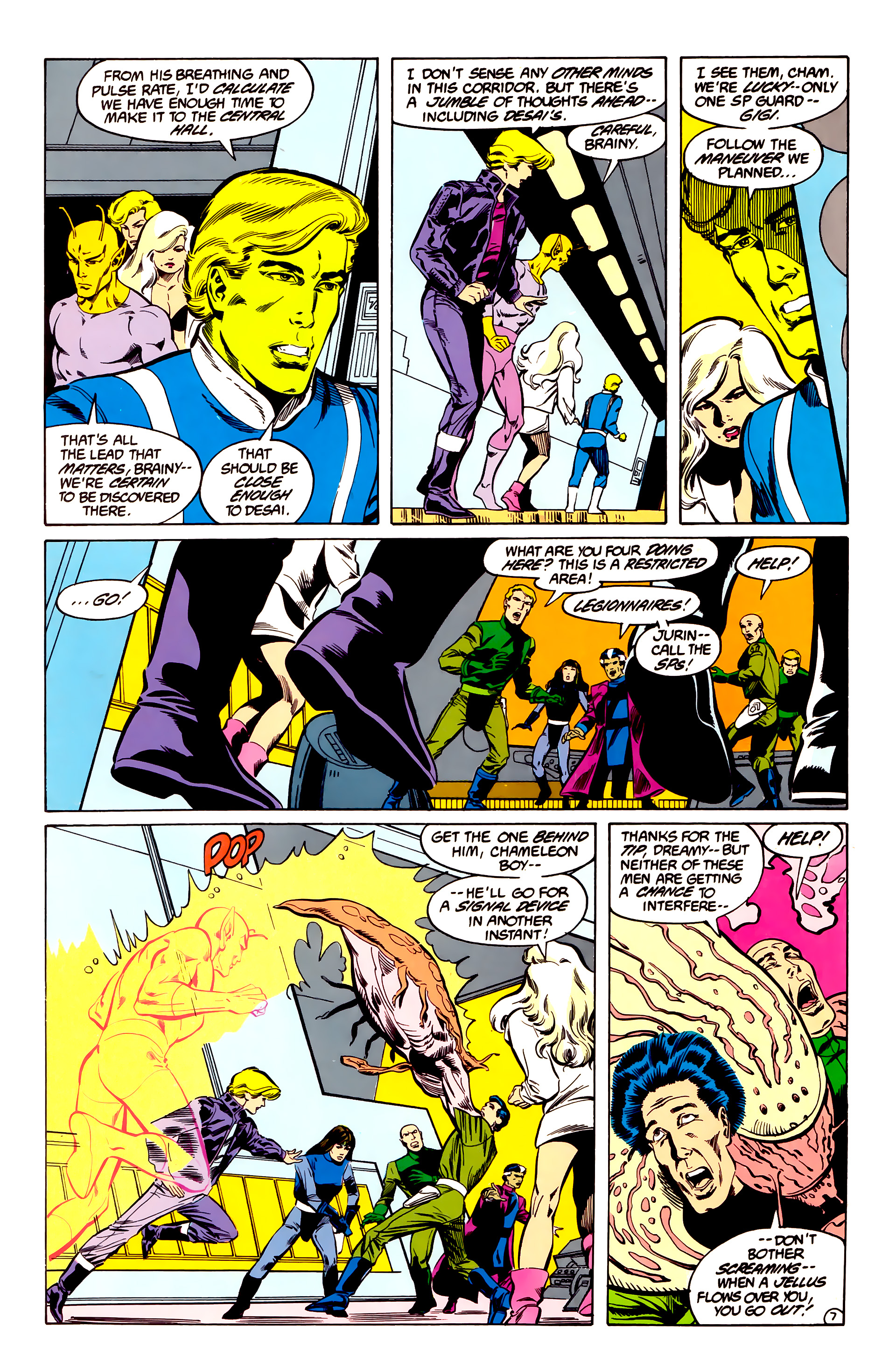 Legion of Super-Heroes (1984) 35 Page 7