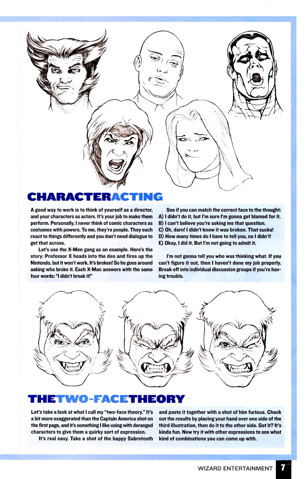 Read online Wizard How to Draw Sampler comic -  Issue # Full - 8