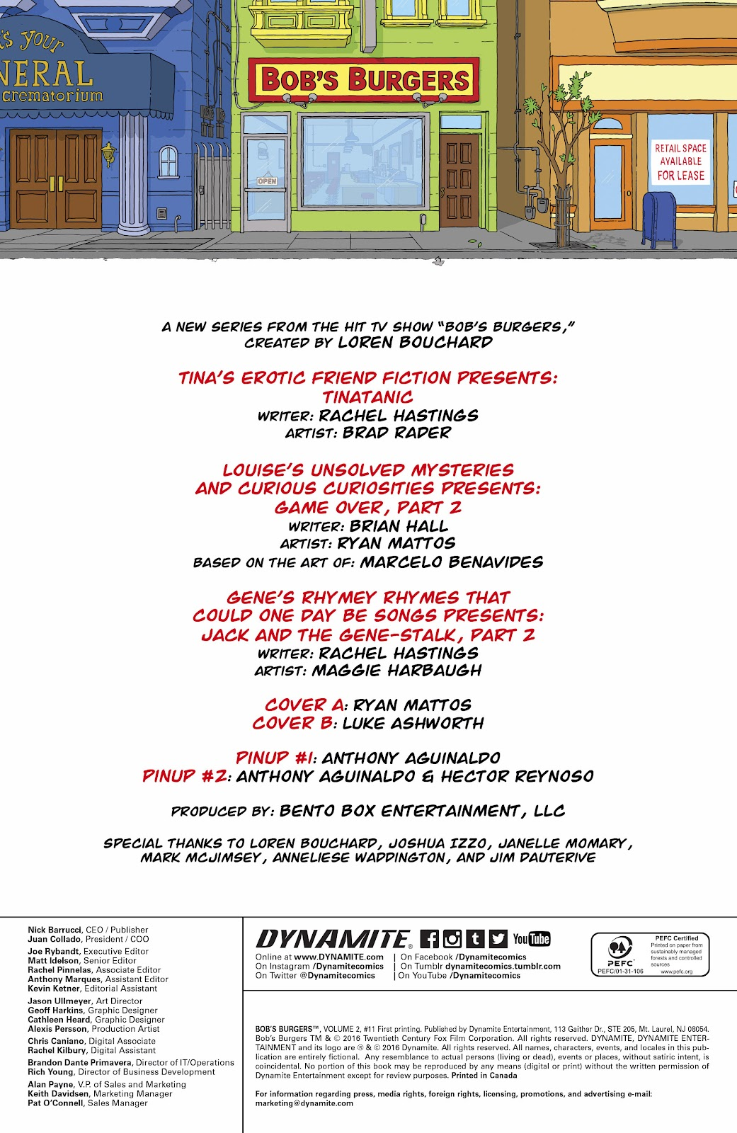 Bob's Burgers (2015) Issue #11 #11 - English 2
