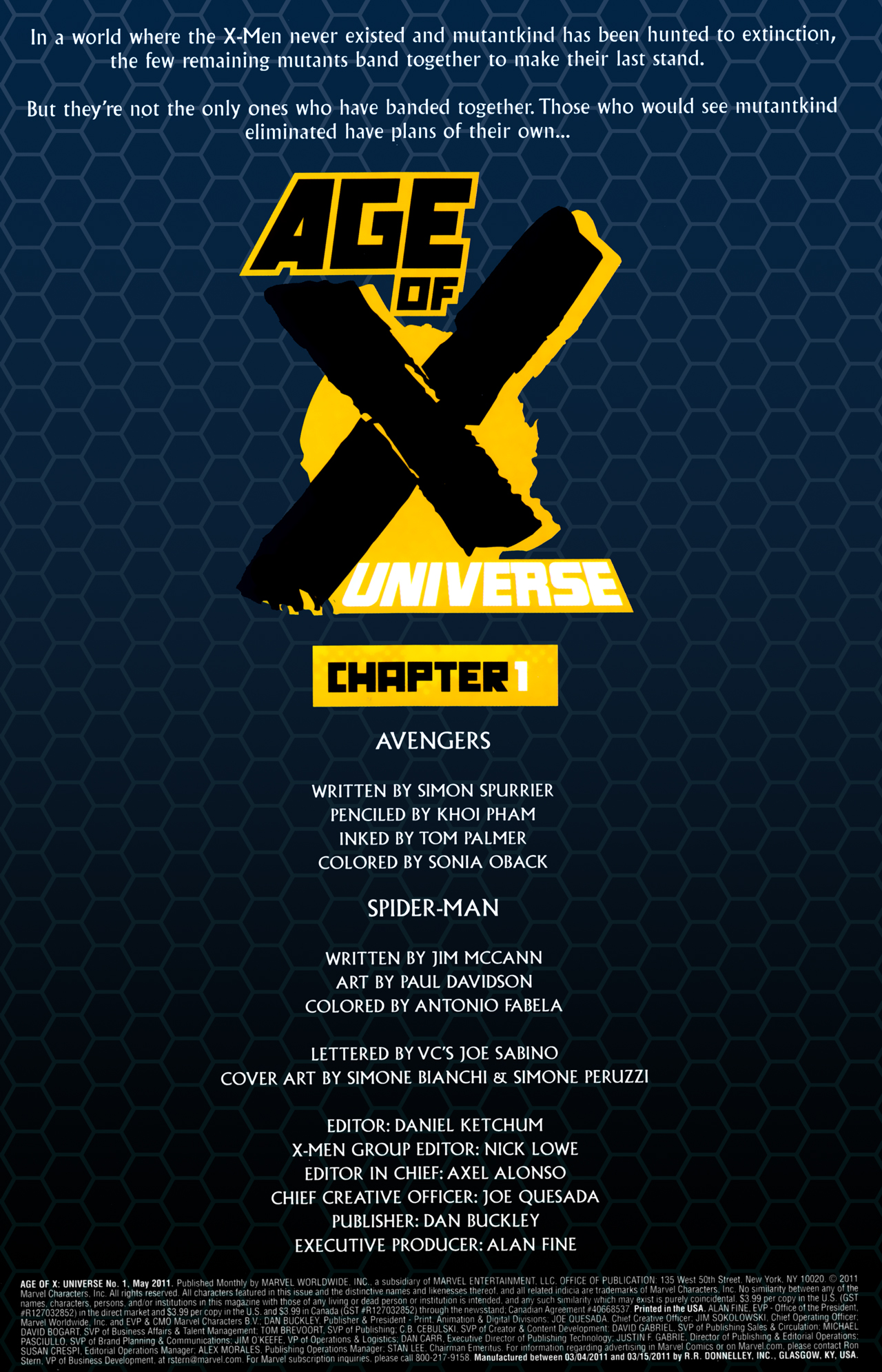 Read online Age of X: Universe comic -  Issue #1 - 2