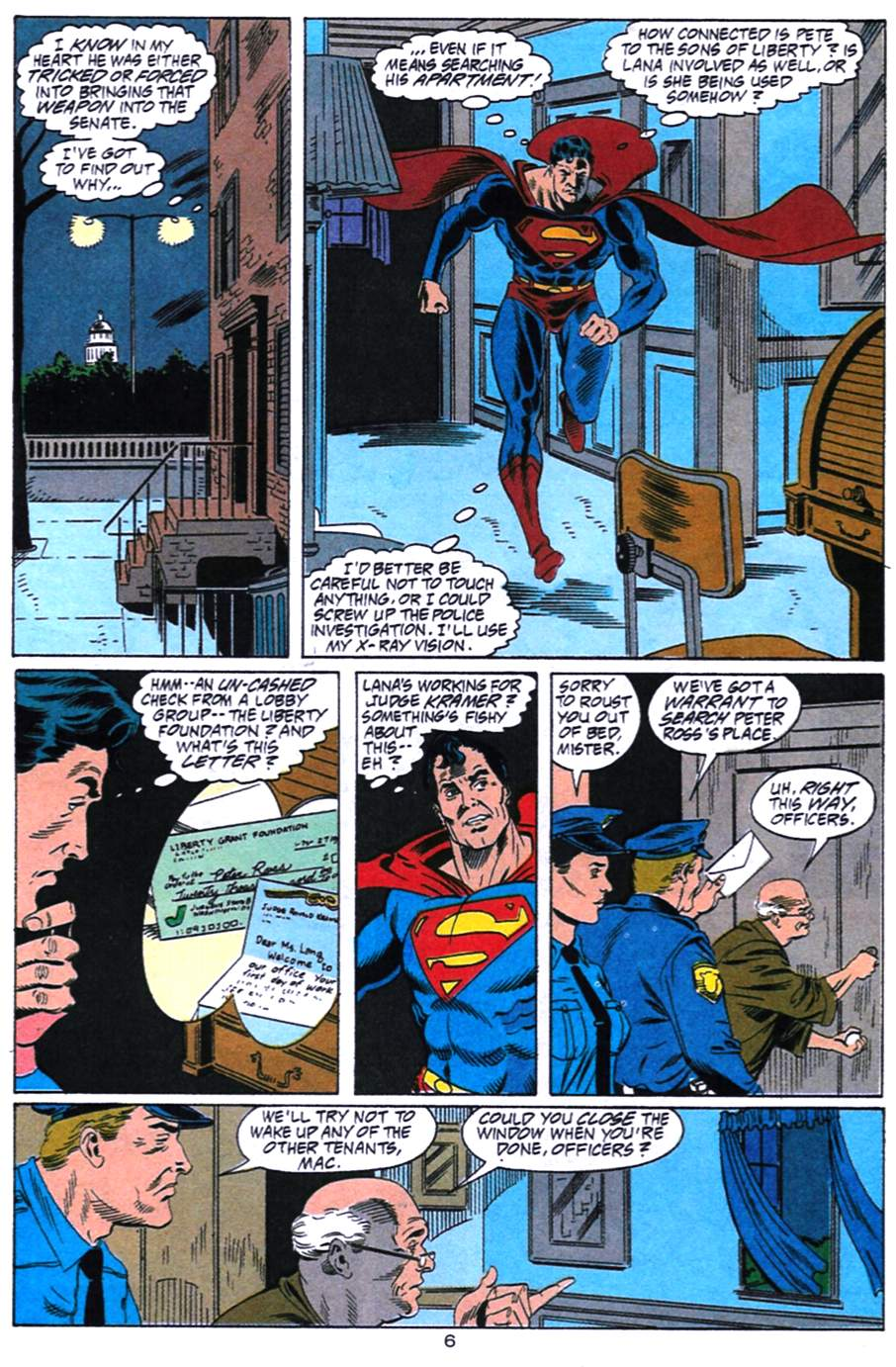 Read online Adventures of Superman (1987) comic -  Issue #492 - 7