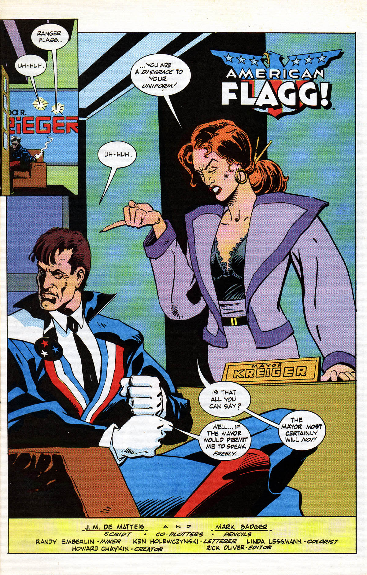 Read online American Flagg! comic -  Issue #38 - 5