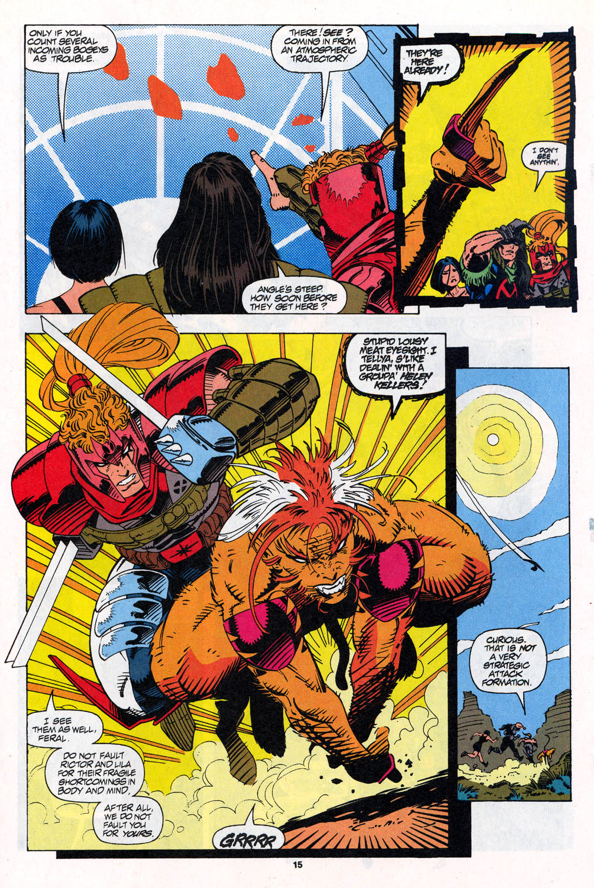 Read online X-Force (1991) comic -  Issue #22 - 16
