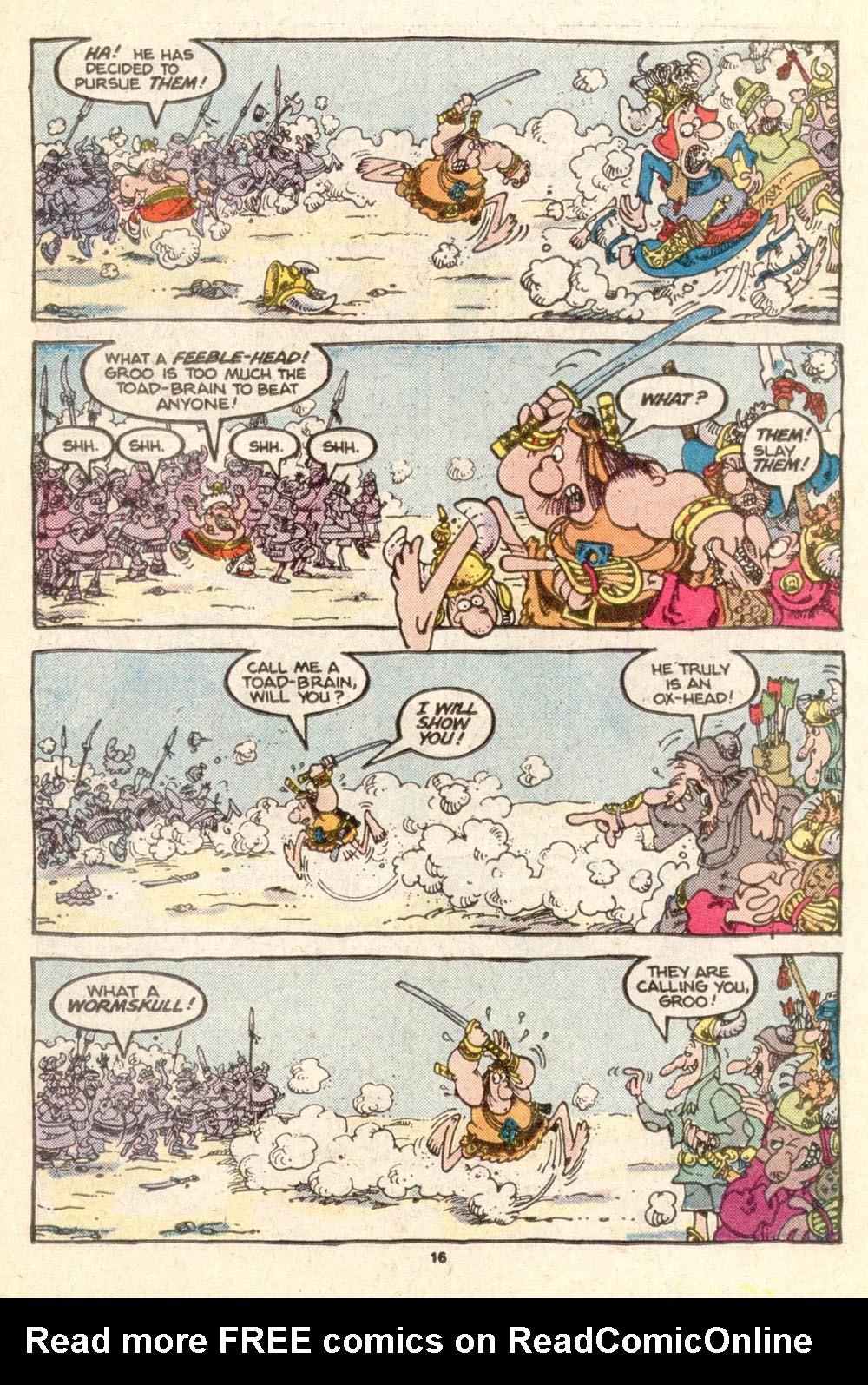 Read online Sergio Aragonés Groo the Wanderer comic -  Issue #25 - 16