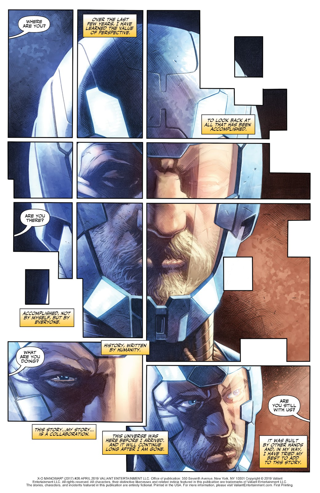 Read online X-O Manowar (2017) comic -  Issue #26 - 2