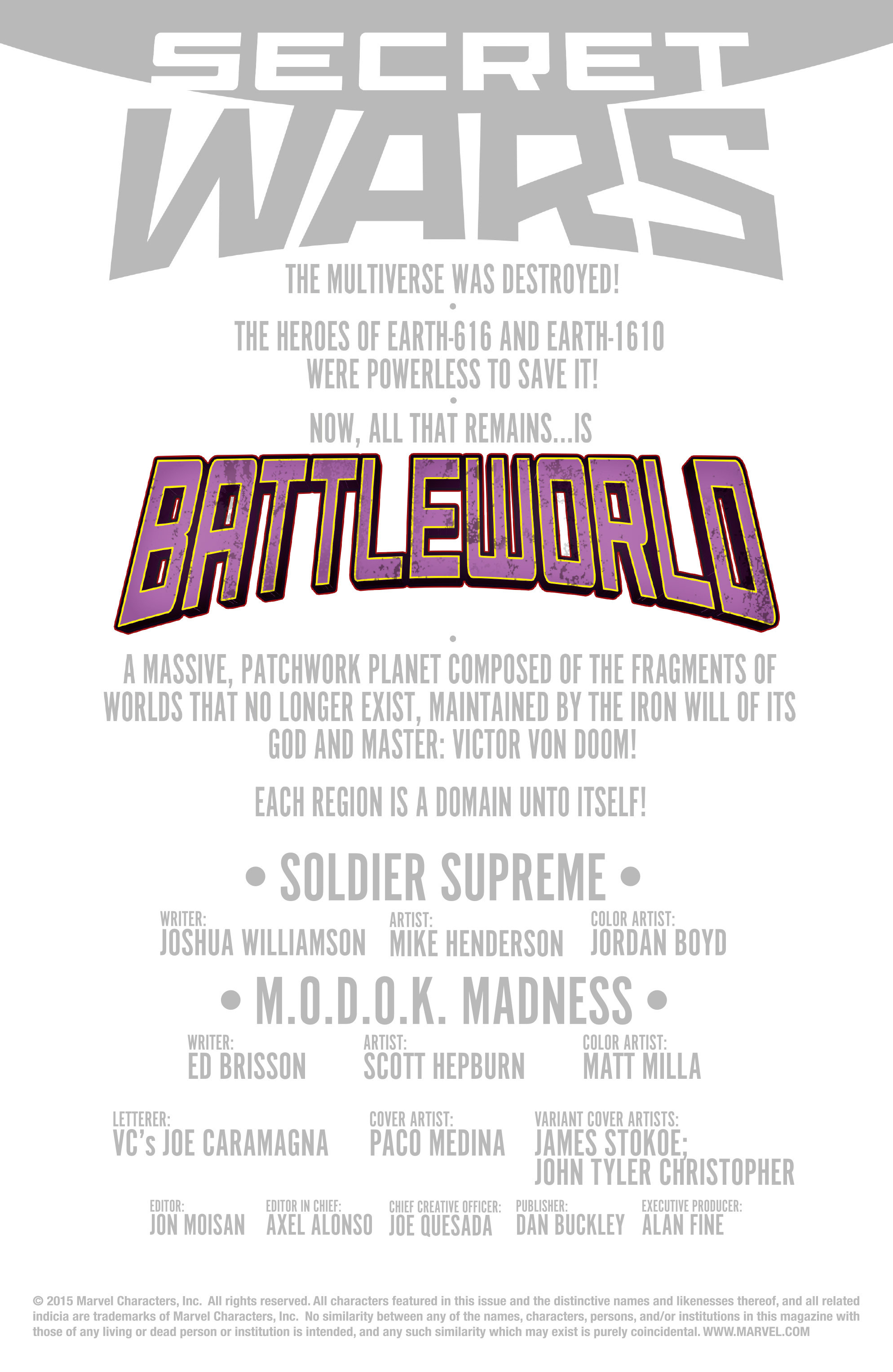 Read online Secret Wars: Battleworld comic -  Issue #1 - 2