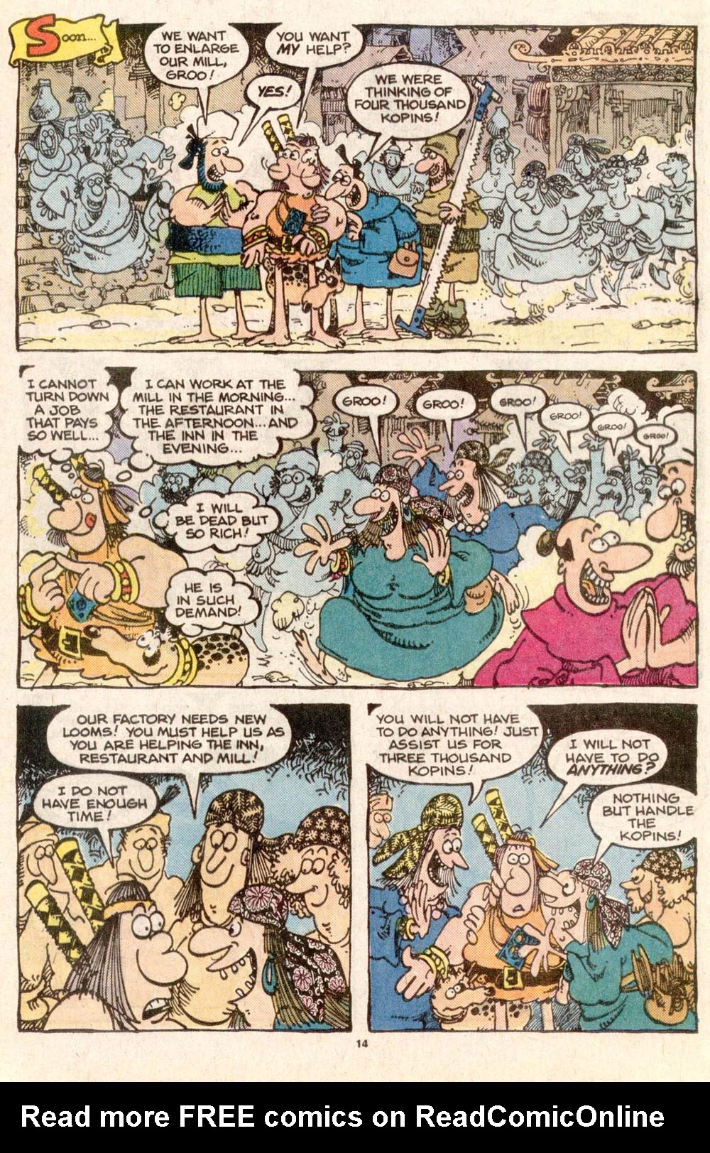 Read online Sergio Aragonés Groo the Wanderer comic -  Issue #32 - 14